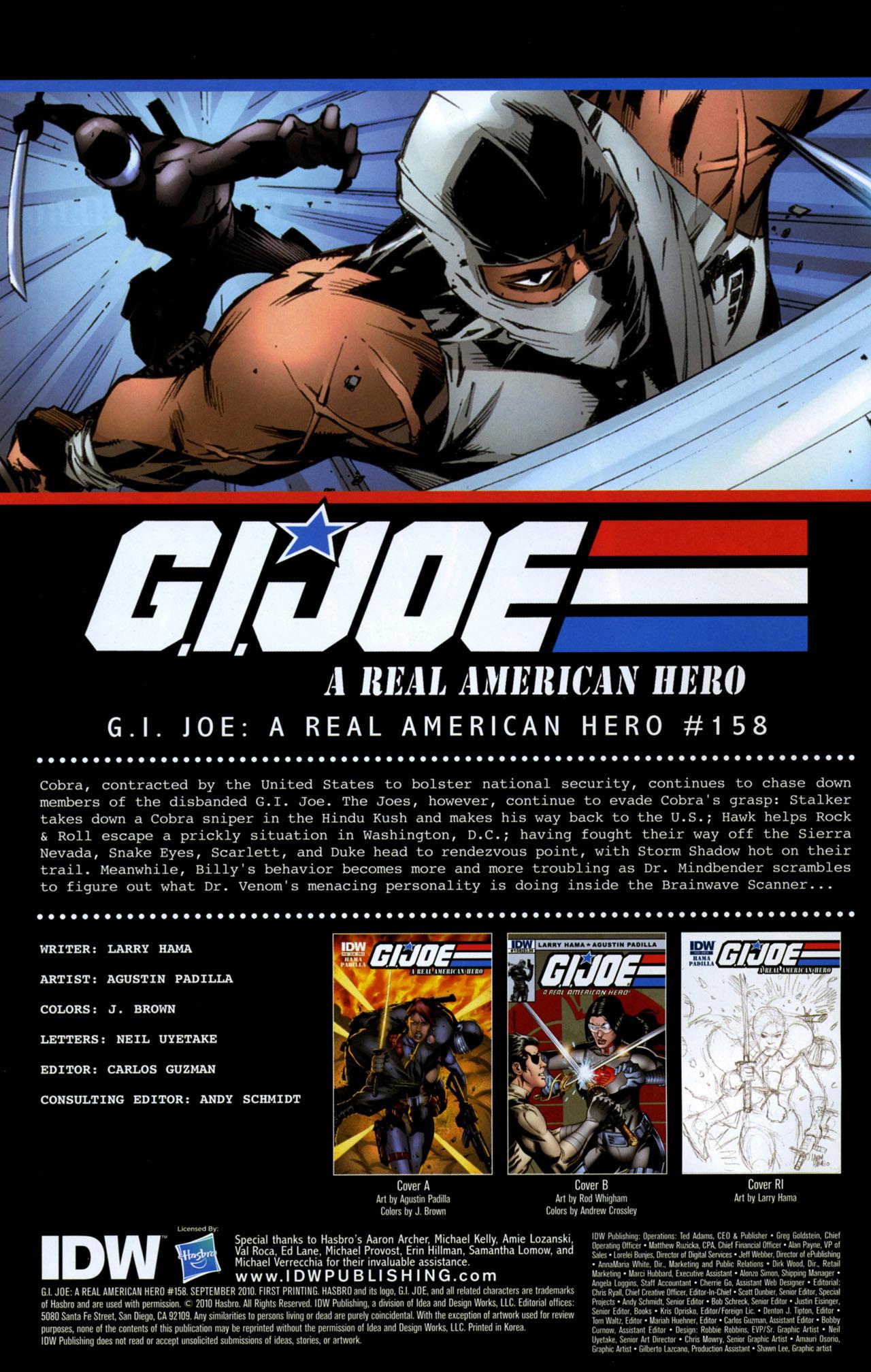 G.I. Joe: A Real American Hero 158 Page 1