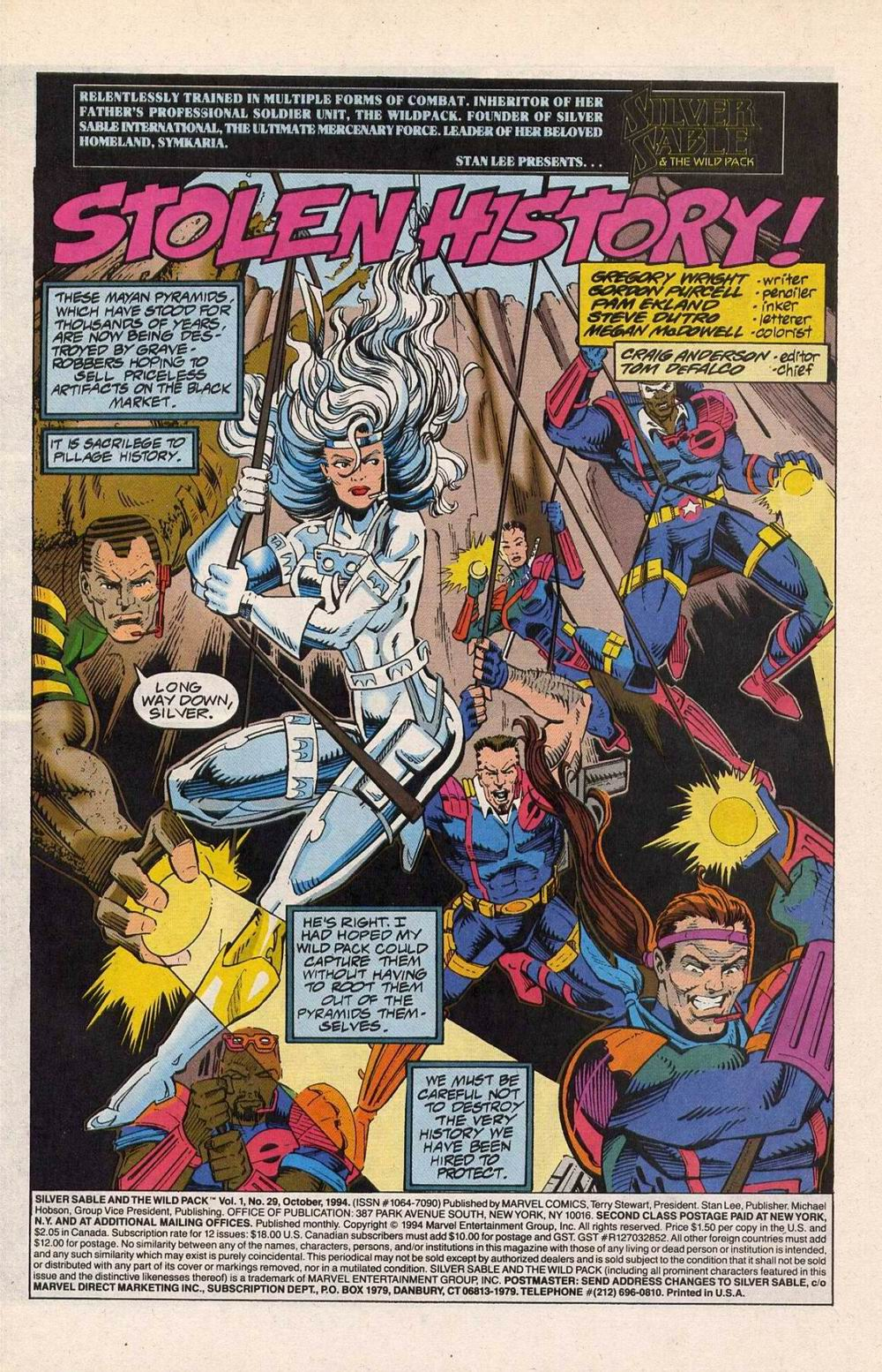 Read online Silver Sable and the Wild Pack comic -  Issue #29 - 2