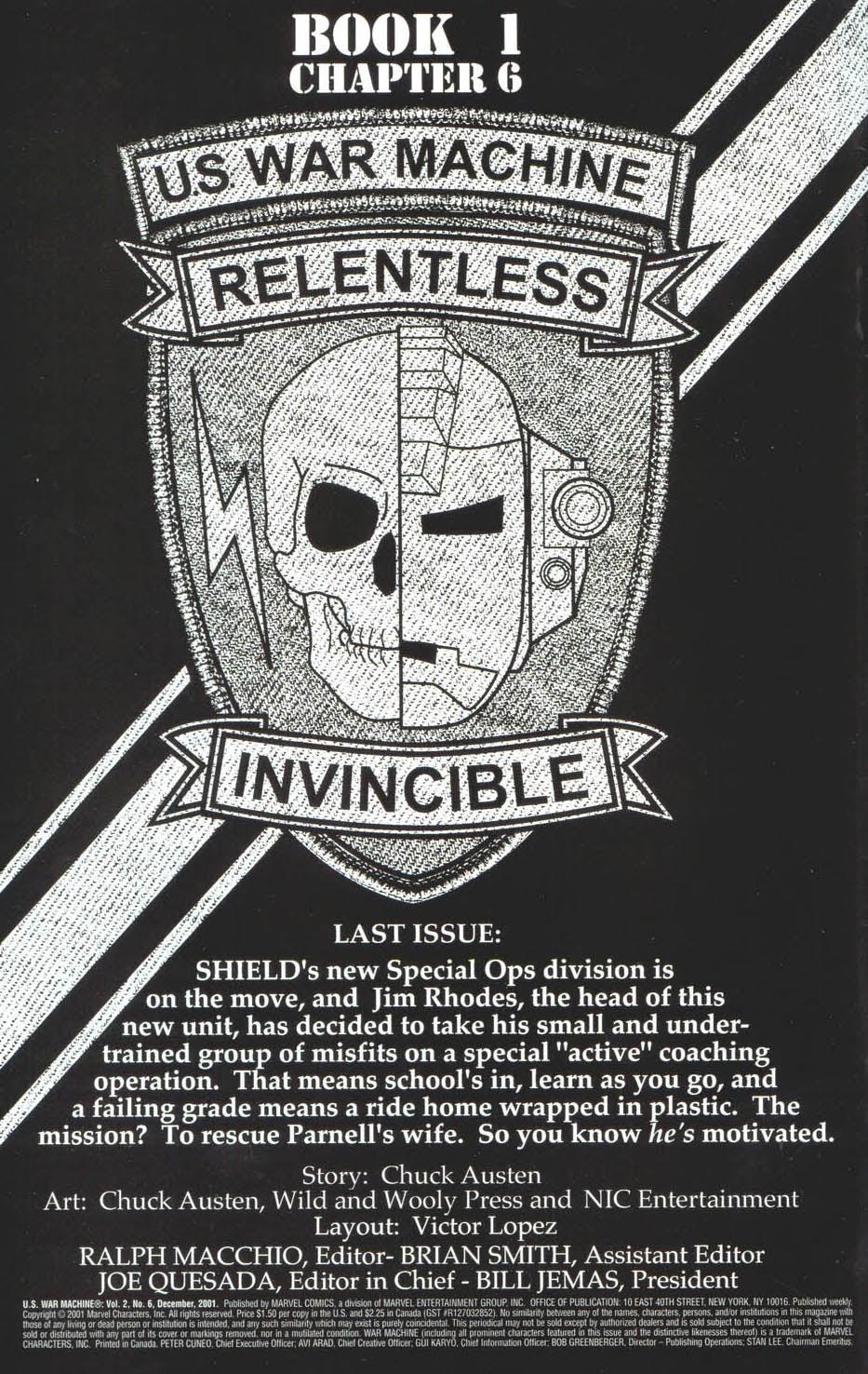 Read online U.S. War Machine comic -  Issue #6 - 3