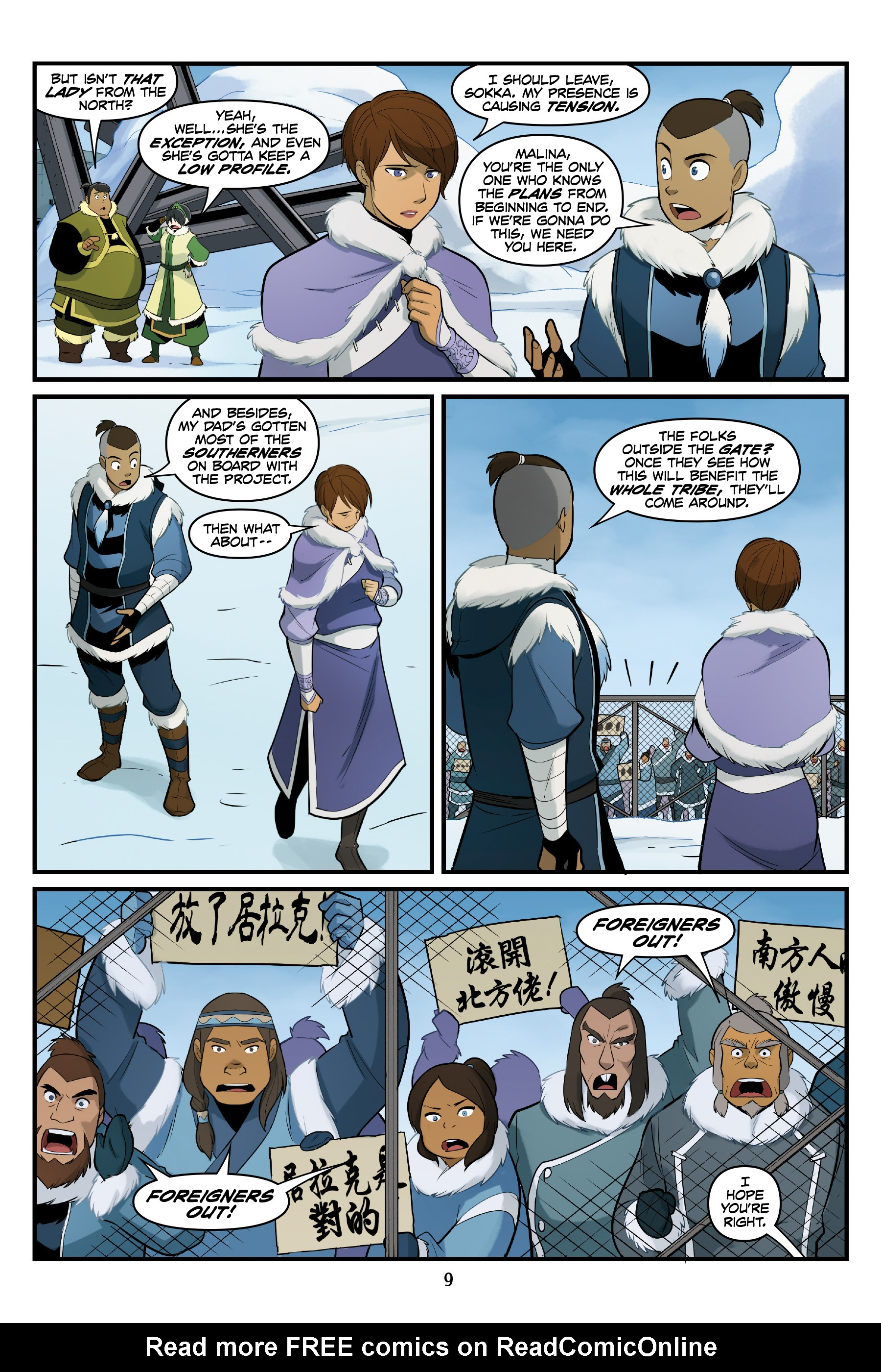 Read online Nickelodeon Avatar: The Last Airbender - North and South comic -  Issue #3 - 10