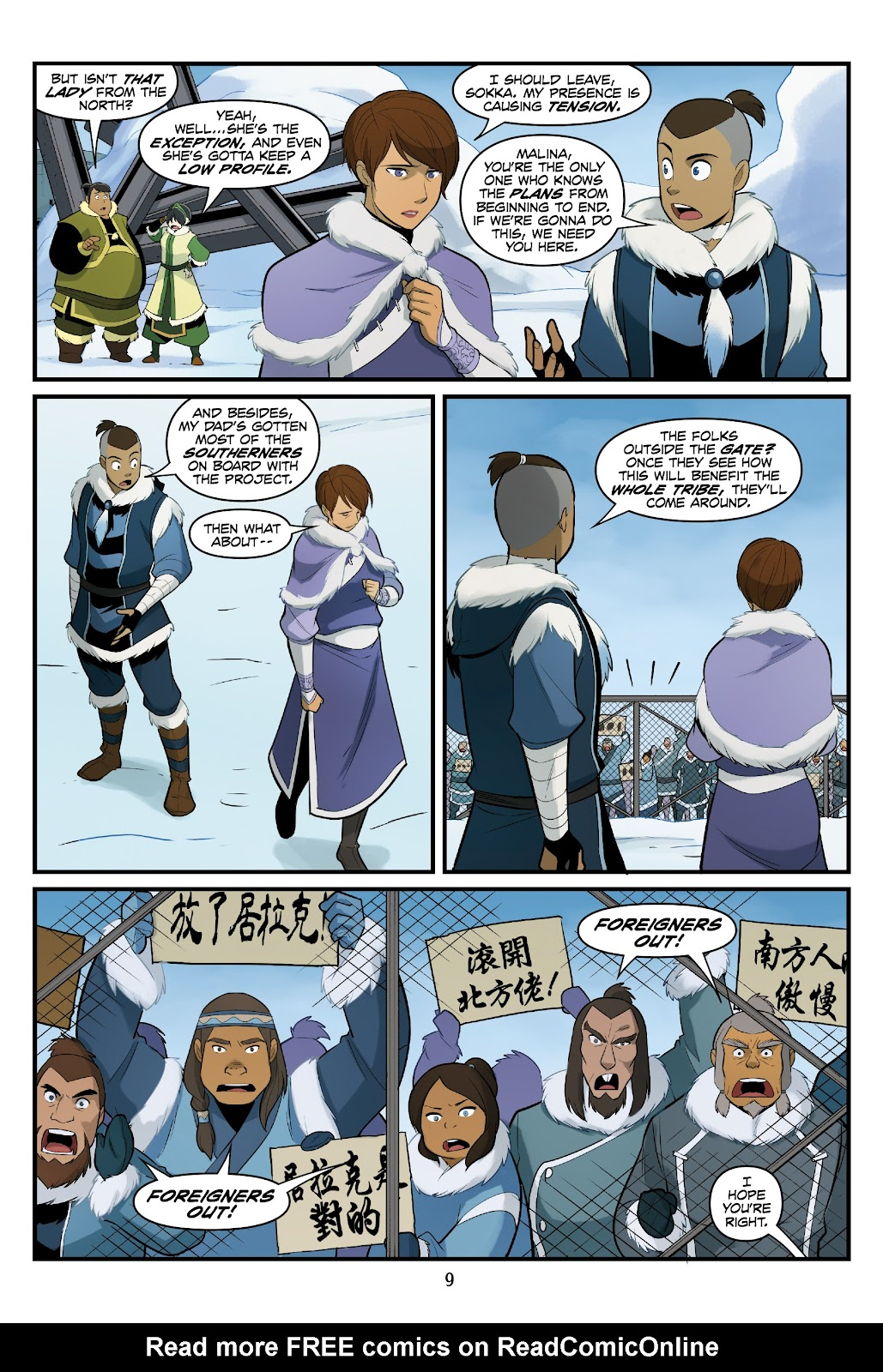 Nickelodeon Avatar: The Last Airbender - North and South issue 3 - Page 10