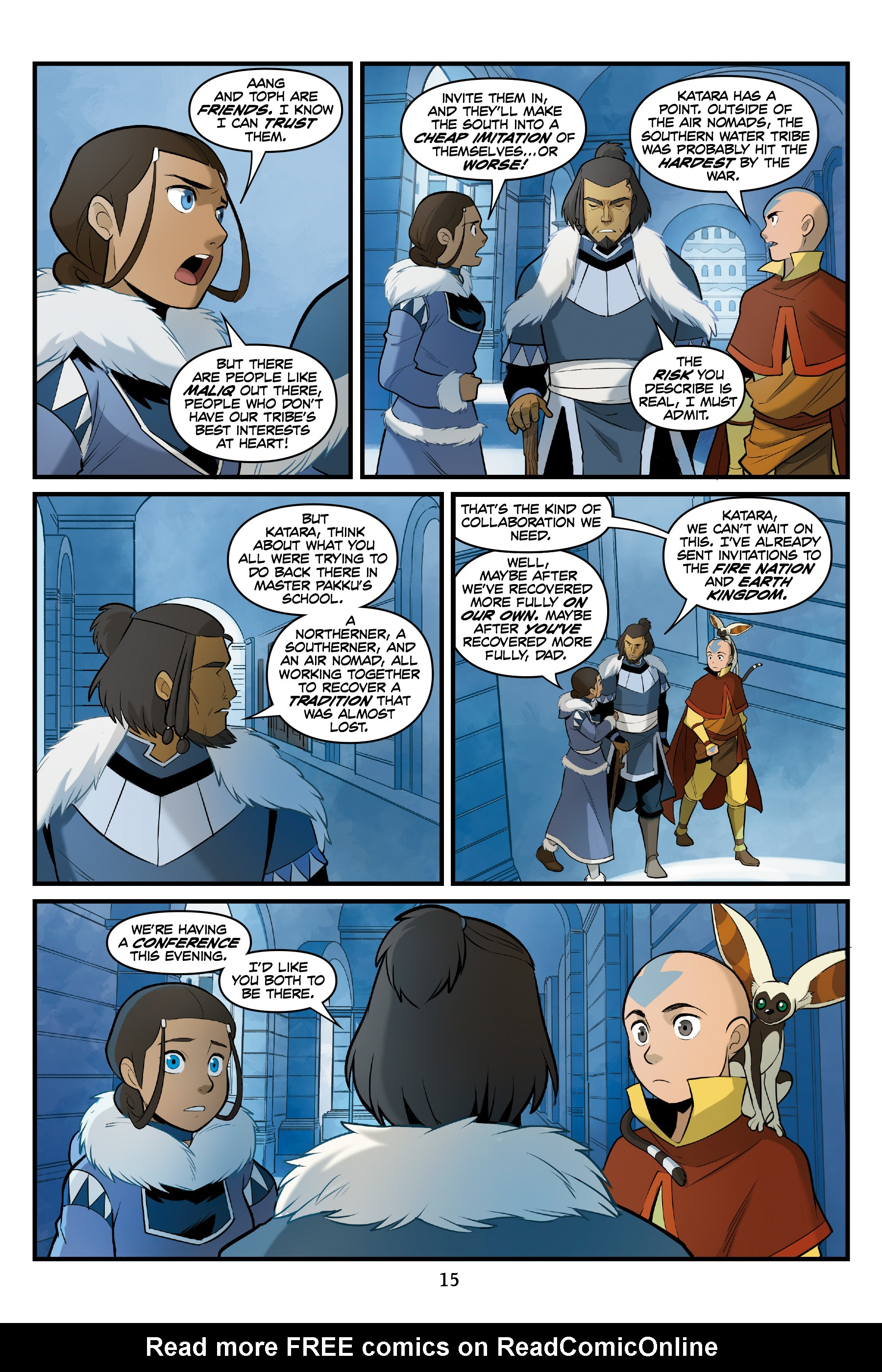 Read online Nickelodeon Avatar: The Last Airbender - North and South comic -  Issue #3 - 16