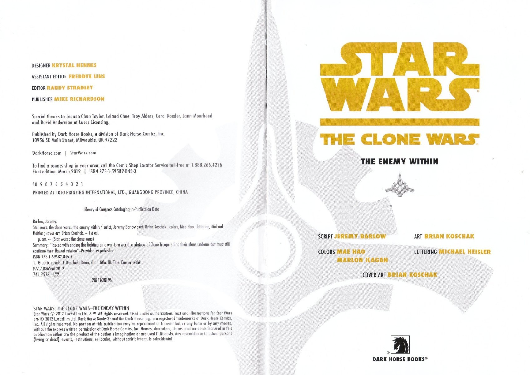 Read online Star Wars: The Clone Wars - The Enemy Within comic -  Issue # Full - 3