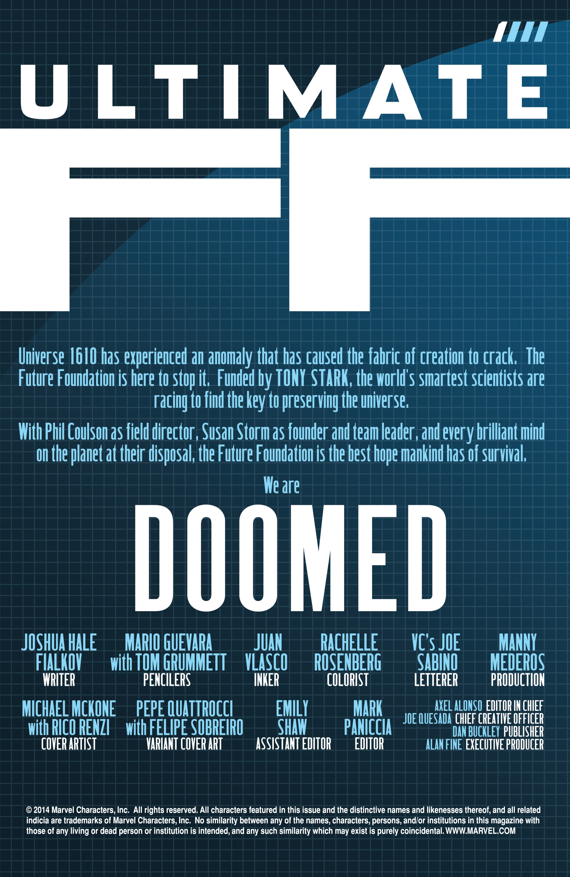 Read online Ultimate FF comic -  Issue #1 - 2