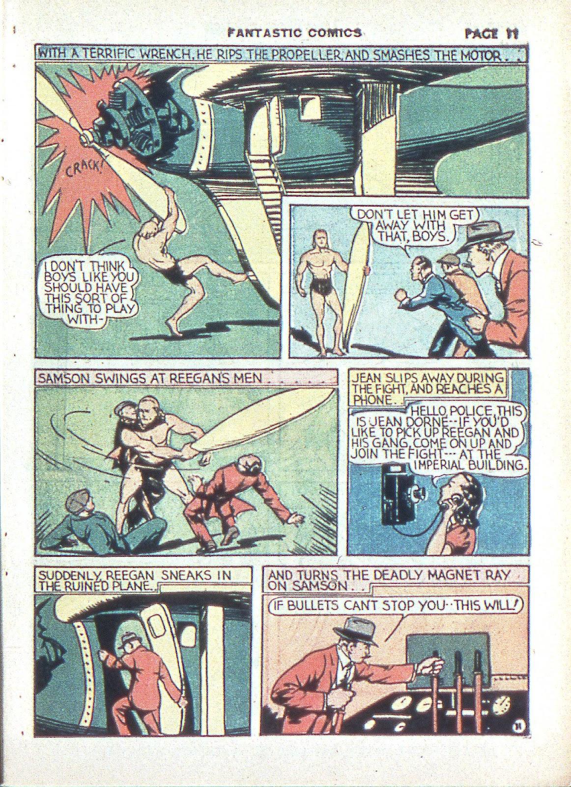 Read online Fantastic Comics comic -  Issue #3 - 14