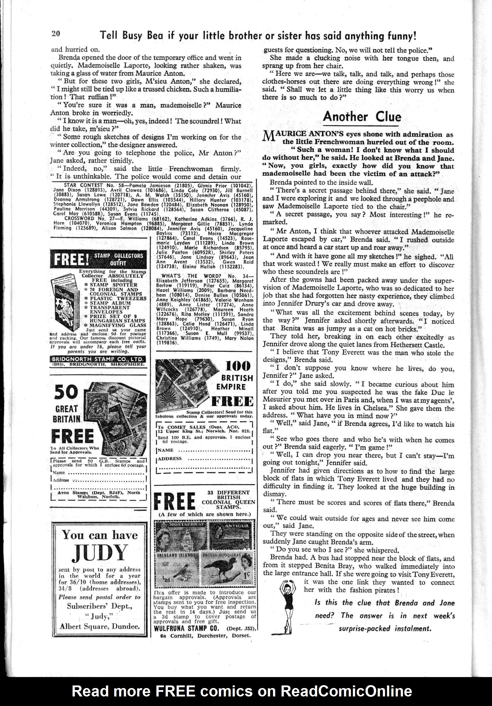 Read online Judy comic -  Issue #197 - 20