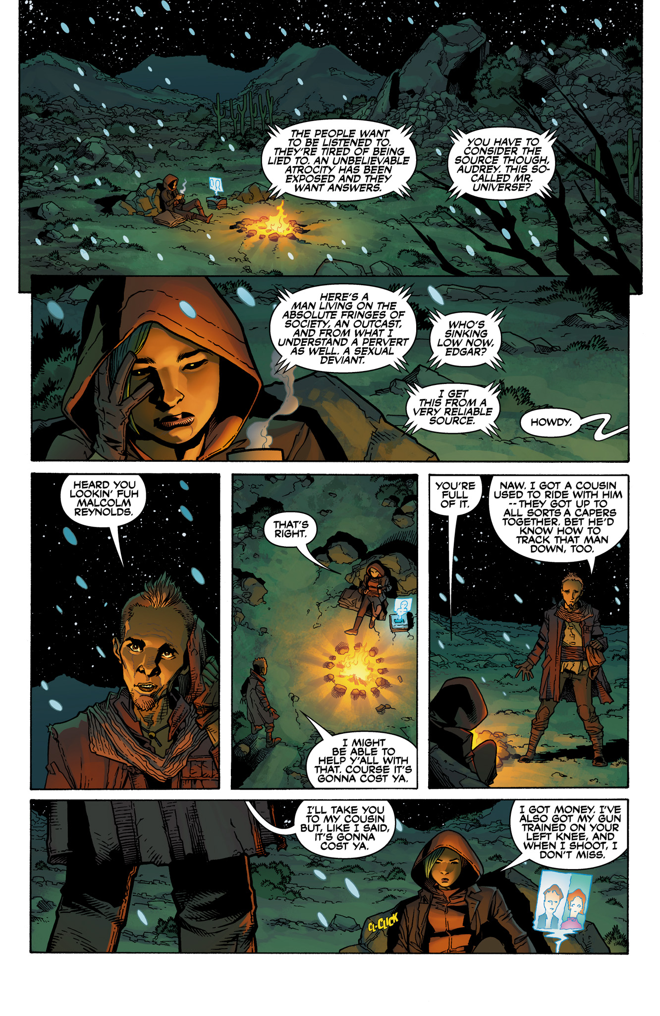 Read online Serenity: Firefly Class 03-K64  Leaves on the Wind comic -  Issue #1 - 9