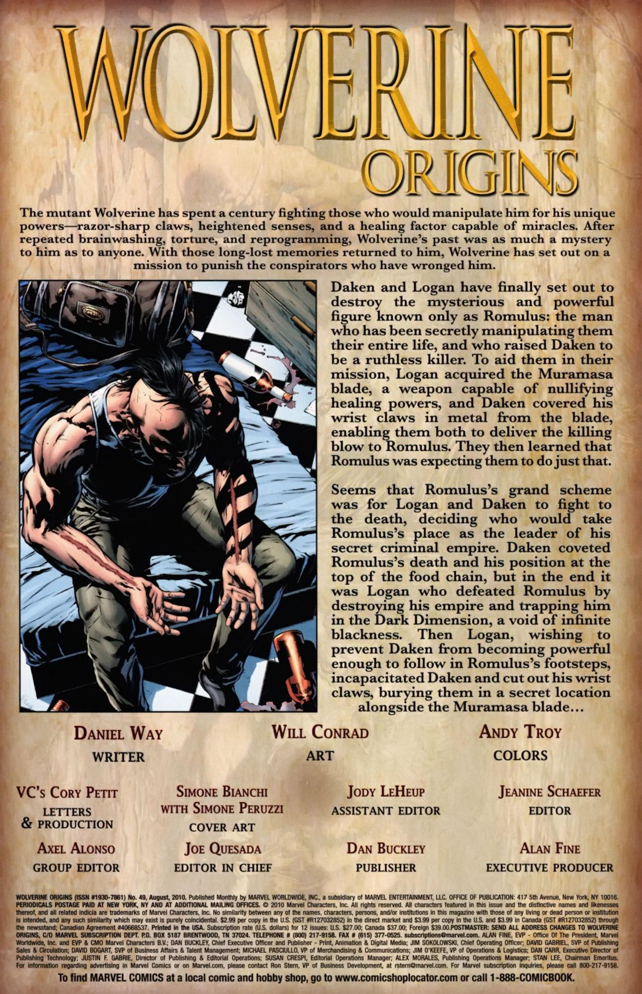 Read online Wolverine: Origins comic -  Issue #49 - 2