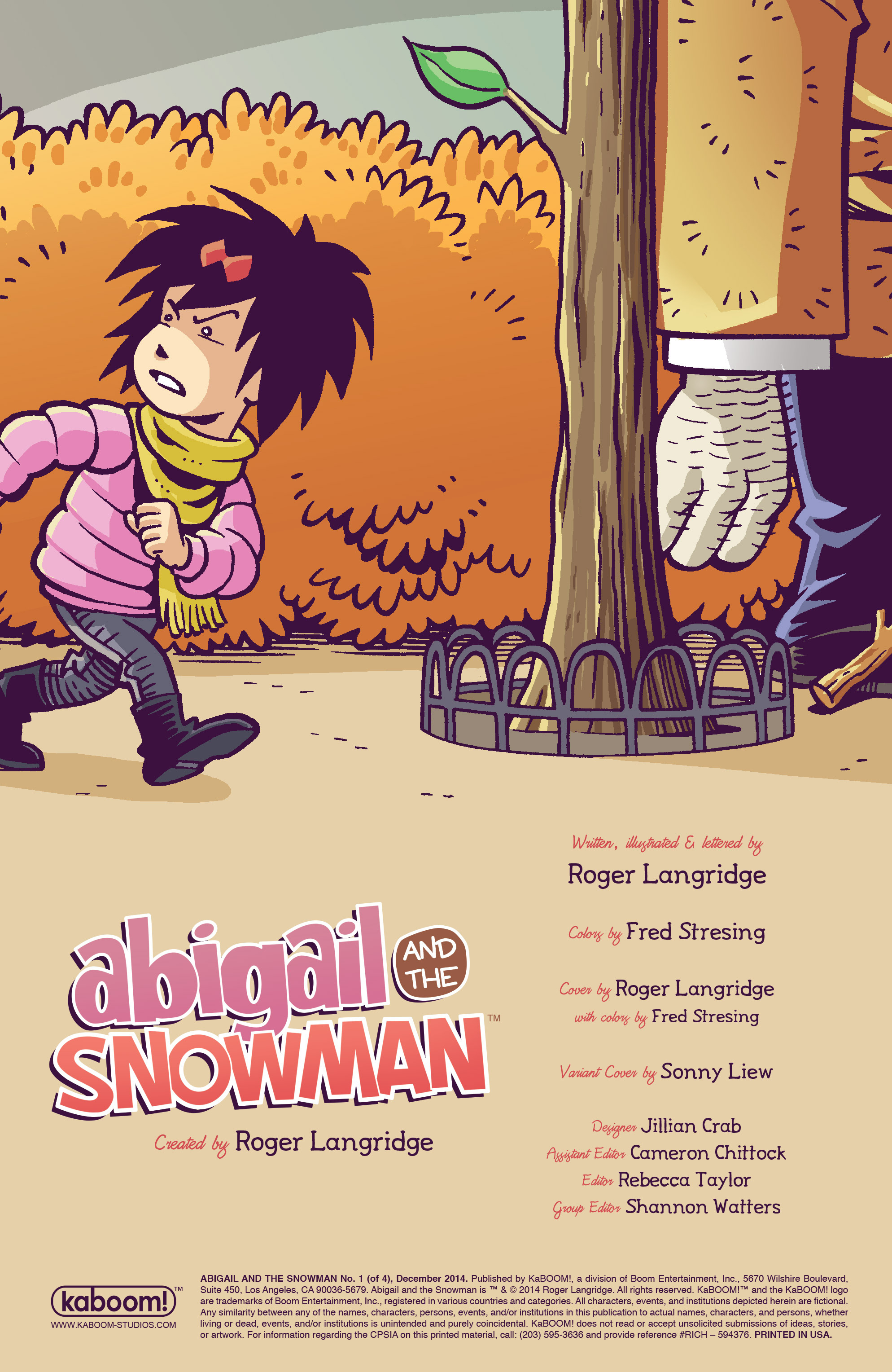 Read online Abigail And The Snowman comic -  Issue #1 - 2