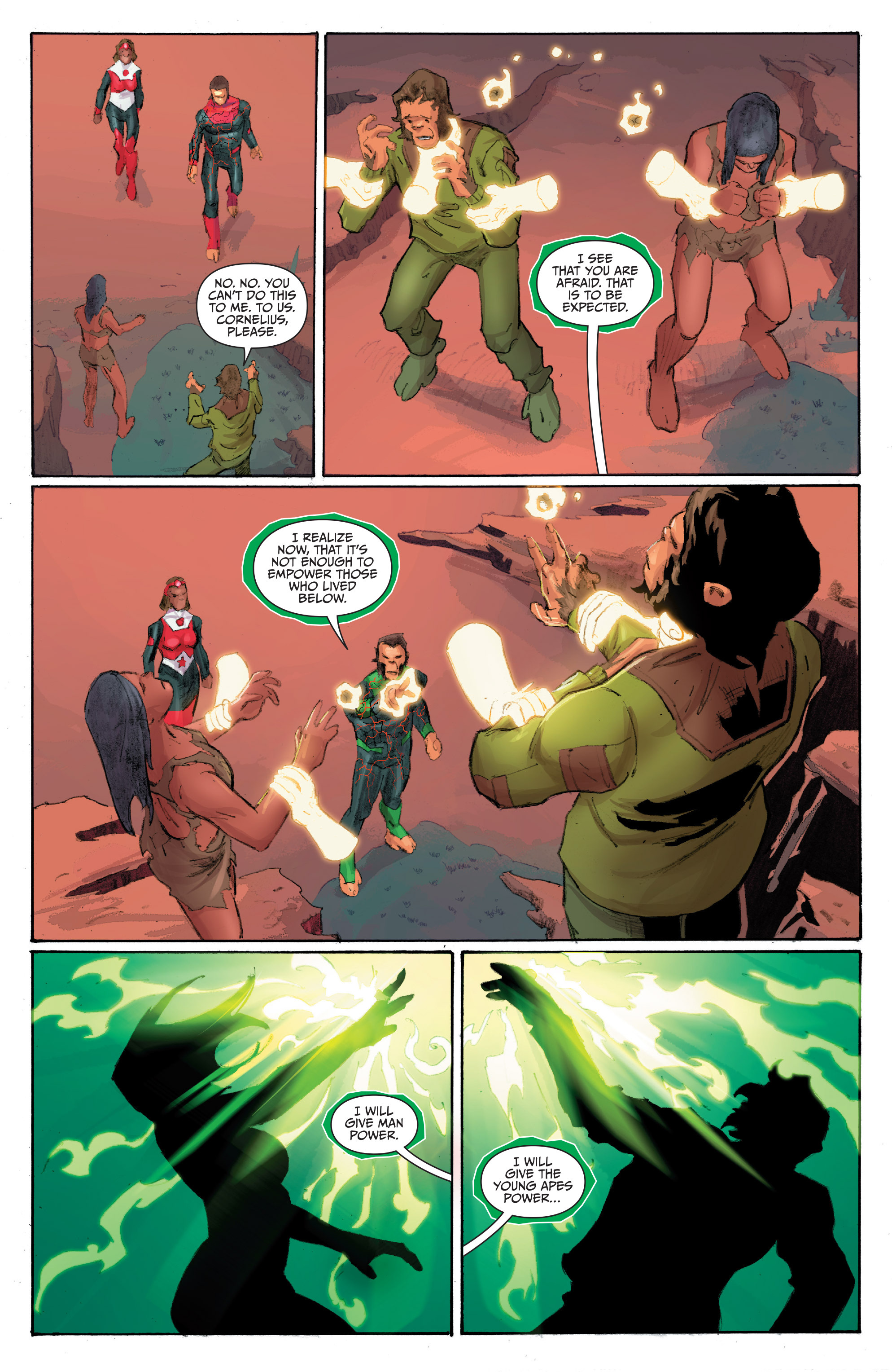 Read online Planet of the Apes/Green Lantern comic -  Issue #4 - 21