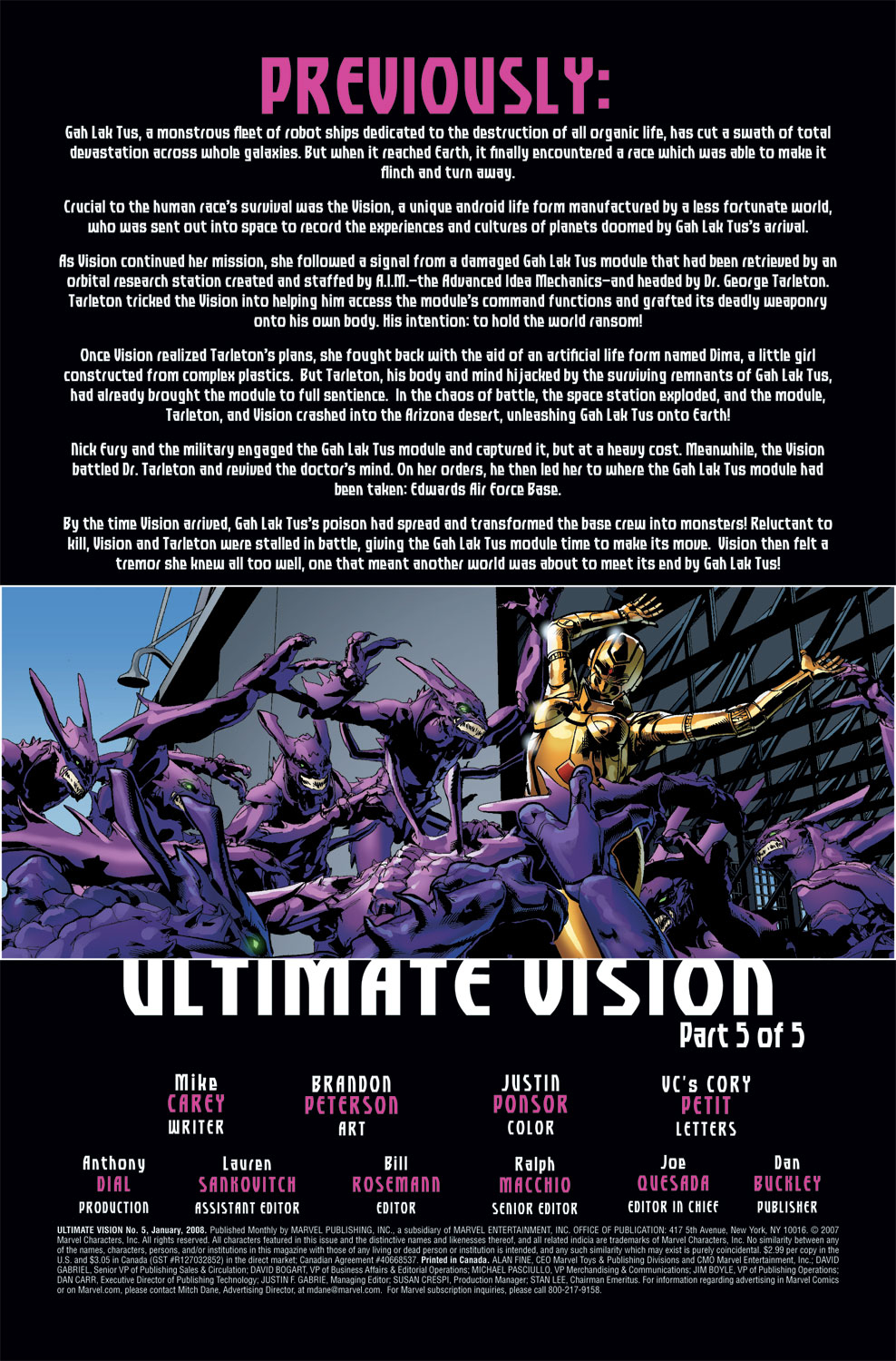Read online Ultimate Vision comic -  Issue #5 - 3