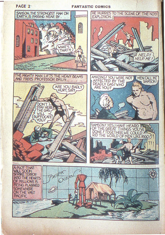 Read online Fantastic Comics comic -  Issue #4 - 4