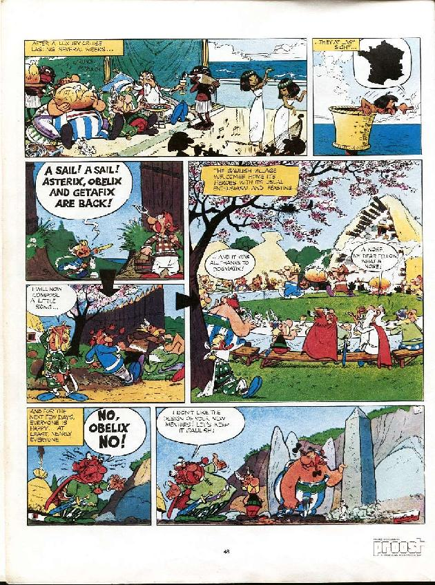 Read online Asterix comic -  Issue #6 - 45