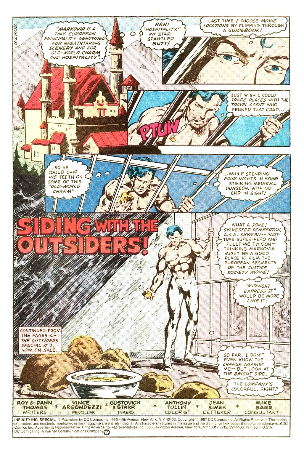 Infinity Inc. (1984) issue Special - Page 3