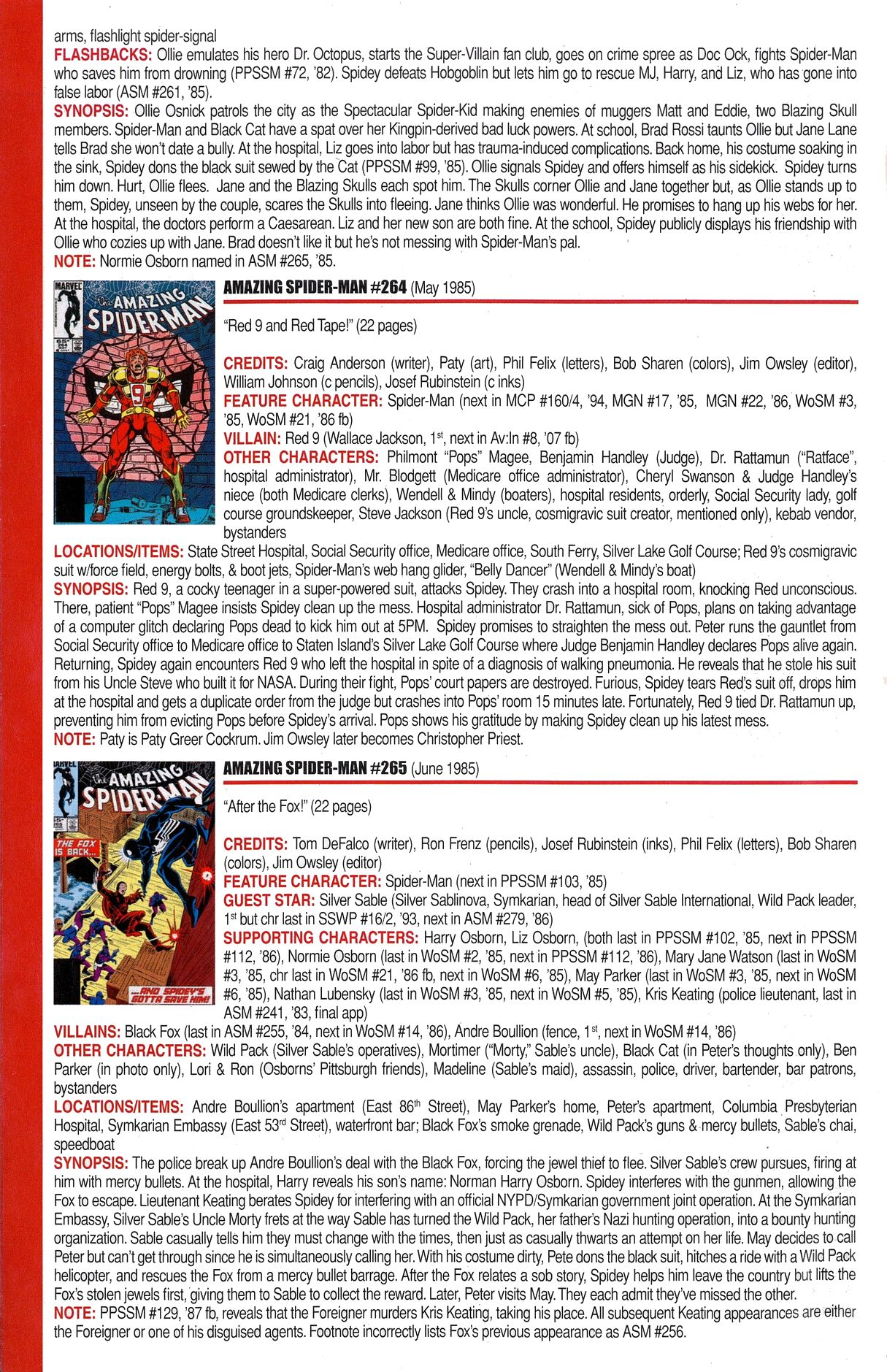 Read online Official Index to the Marvel Universe comic -  Issue #6 - 12