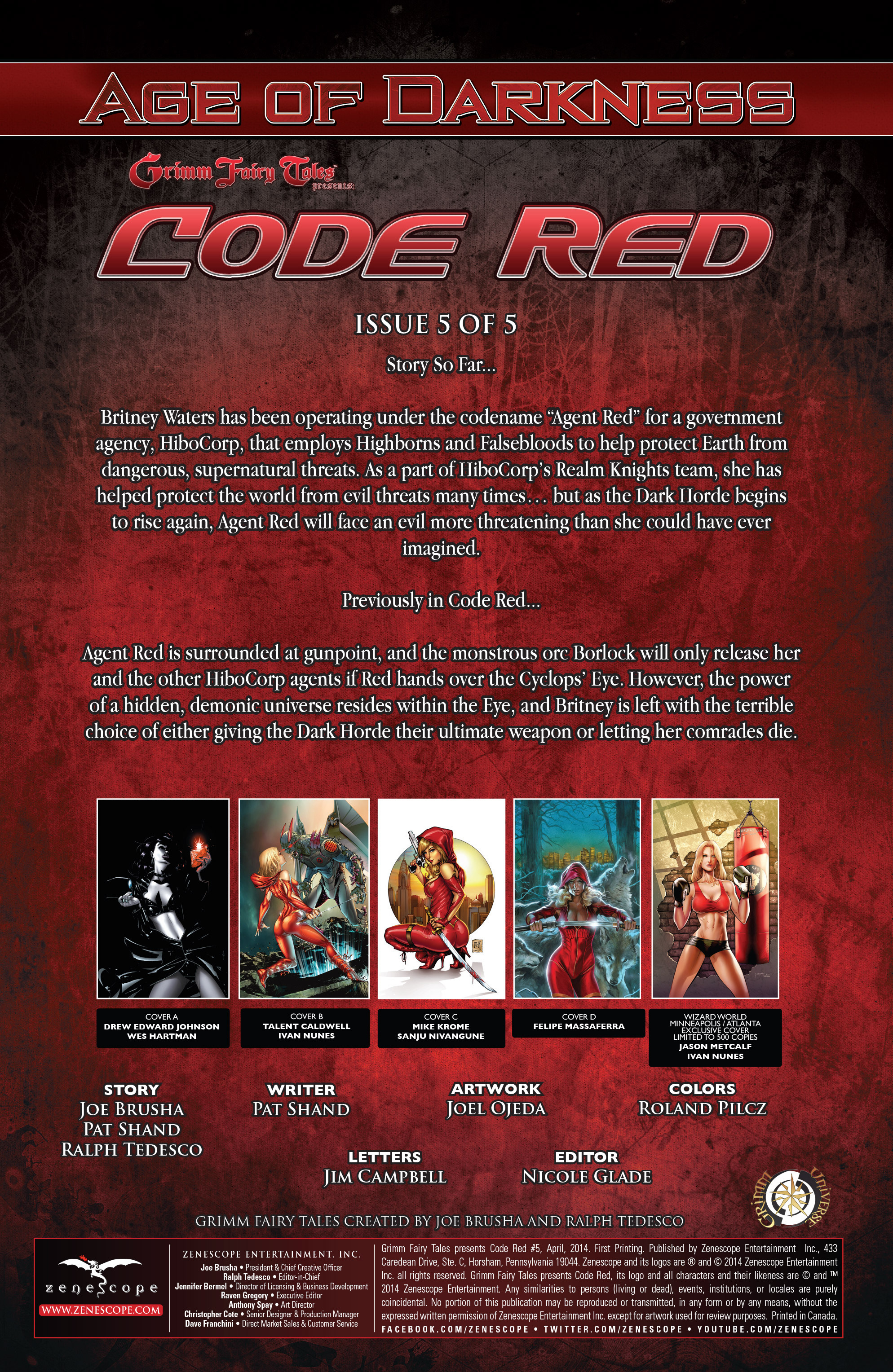 Read online Grimm Fairy Tales presents Code Red comic -  Issue # TPB - 101
