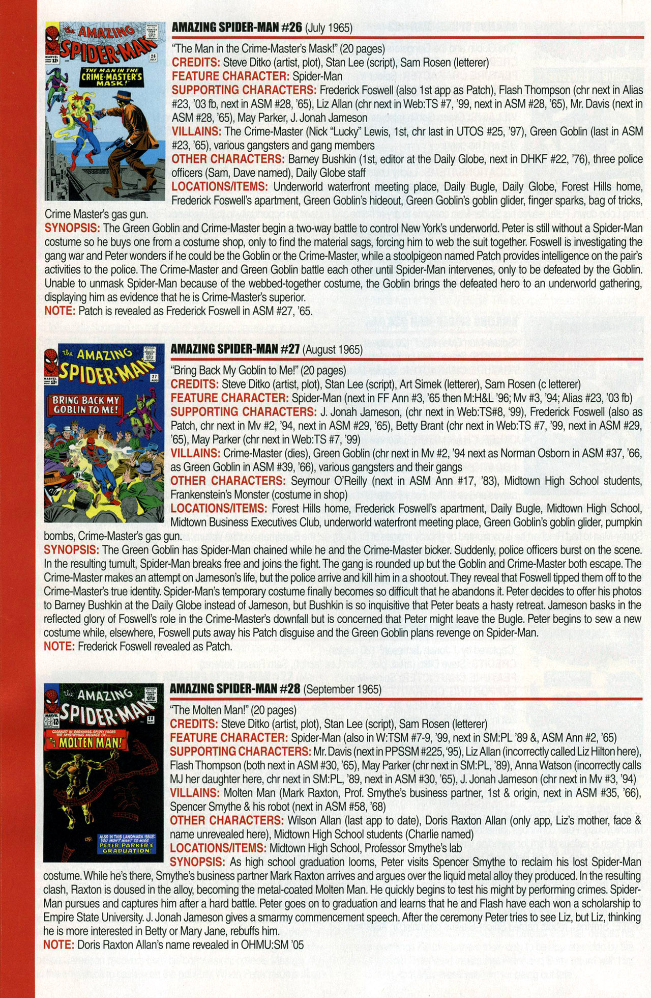 Read online Official Index to the Marvel Universe comic -  Issue #1 - 14