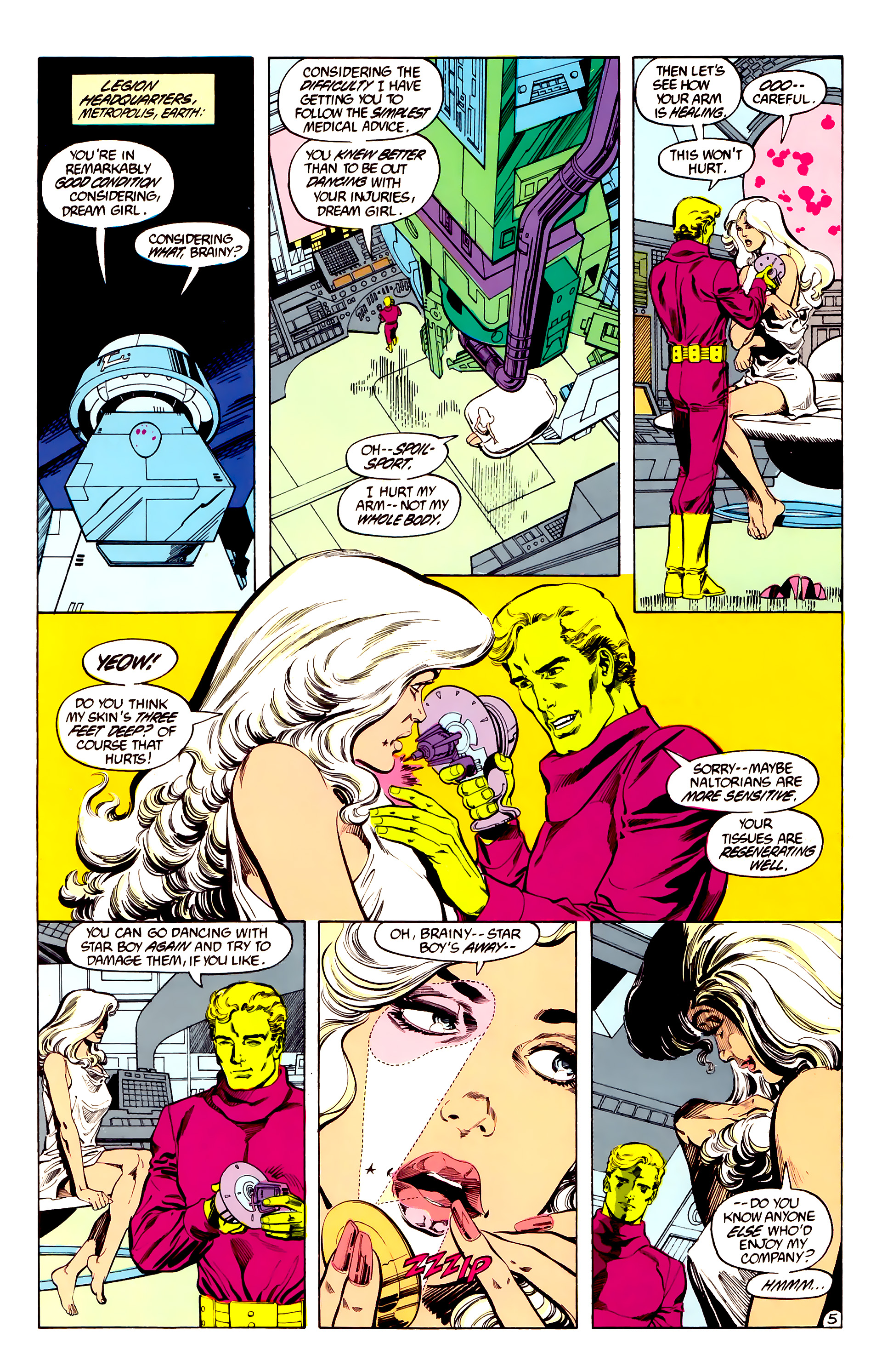 Legion of Super-Heroes (1984) 28 Page 6