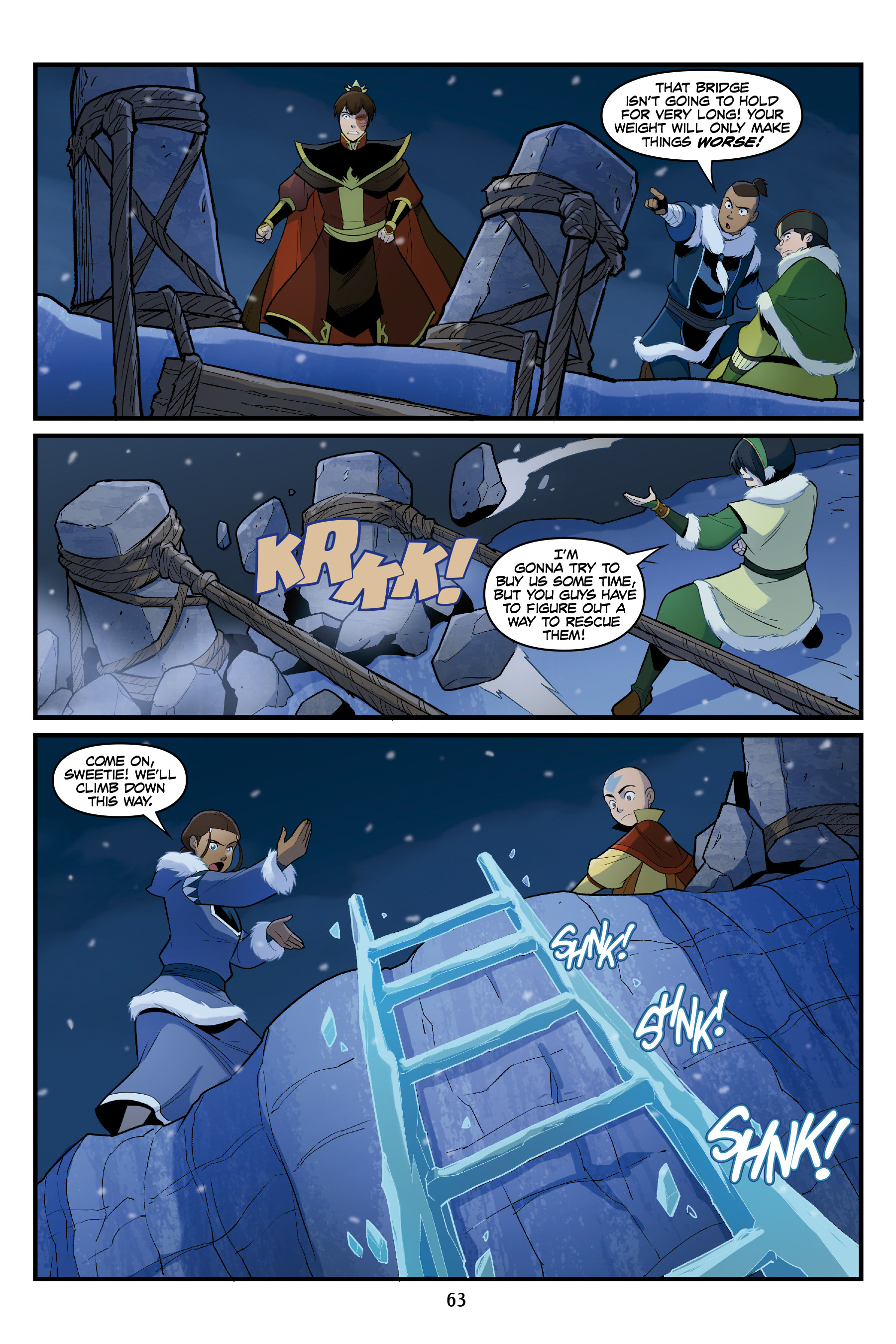 Read online Nickelodeon Avatar: The Last Airbender - North and South comic -  Issue #3 - 62