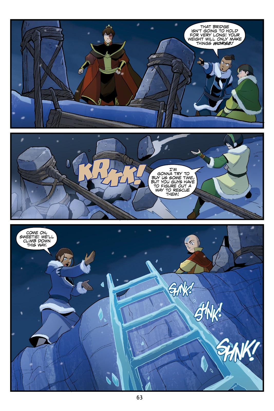 Nickelodeon Avatar: The Last Airbender - North and South issue 3 - Page 62