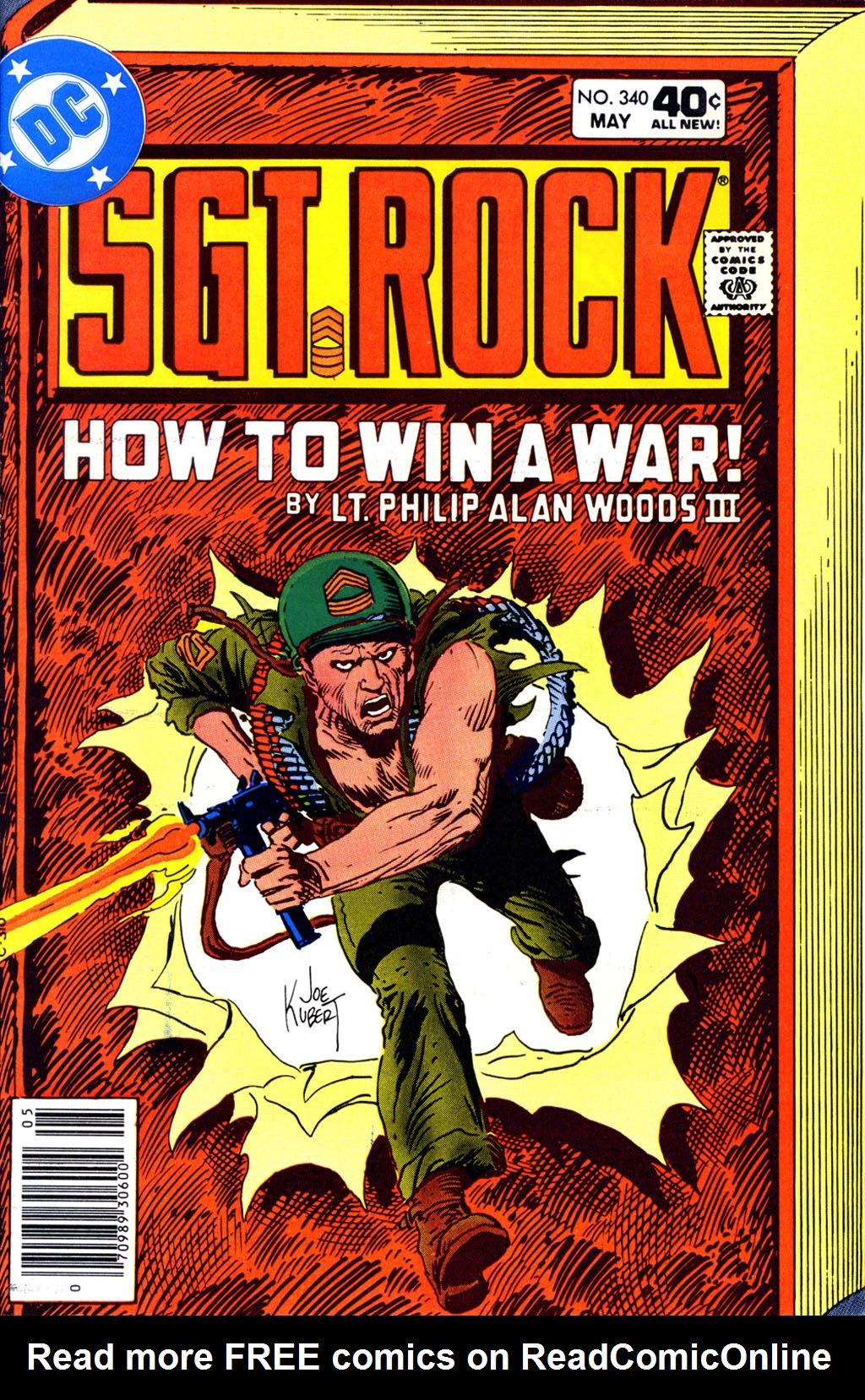 Read online Sgt. Rock comic -  Issue #340 - 1