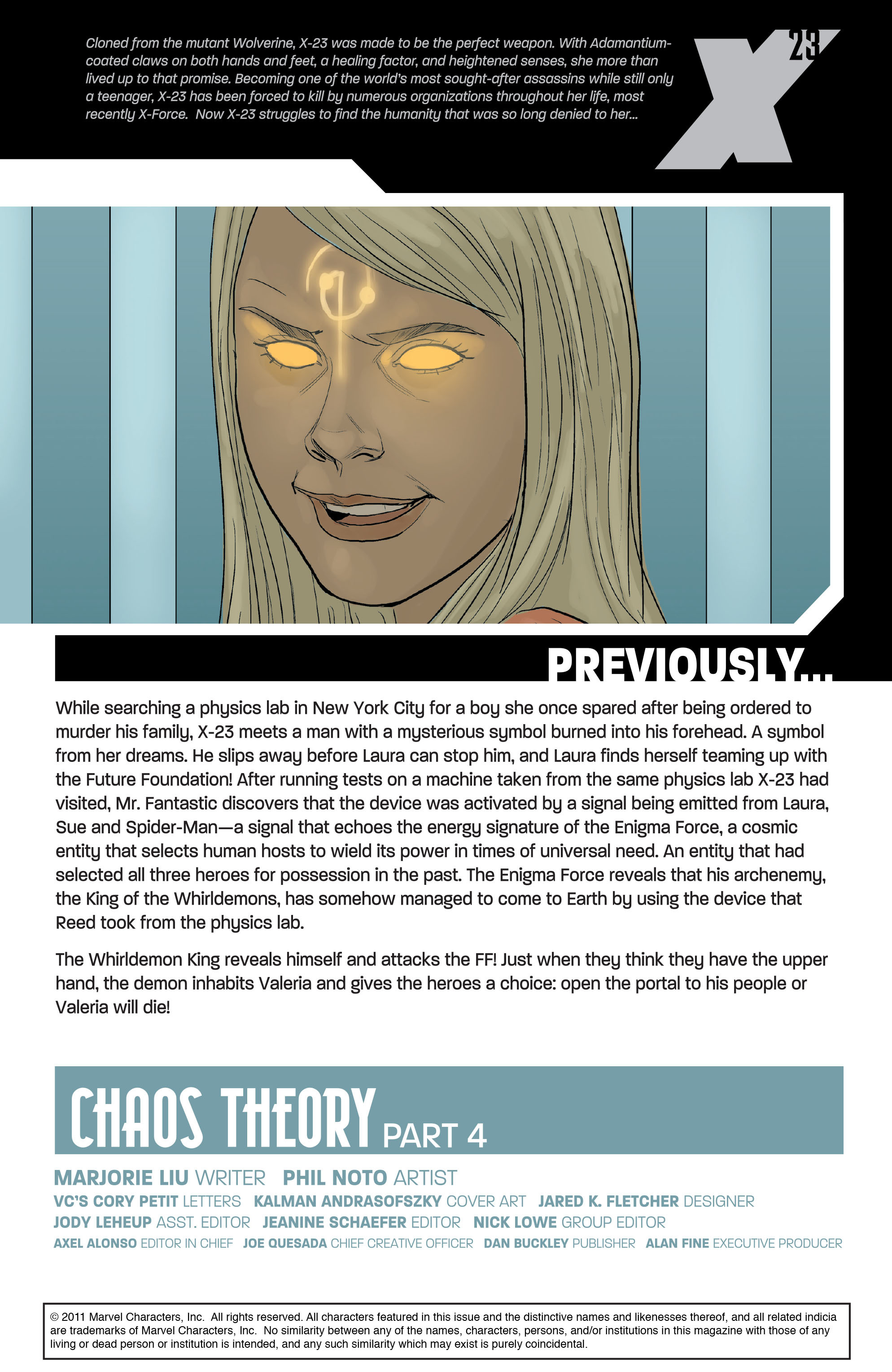 Read online X-23 (2010) comic -  Issue #16 - 2