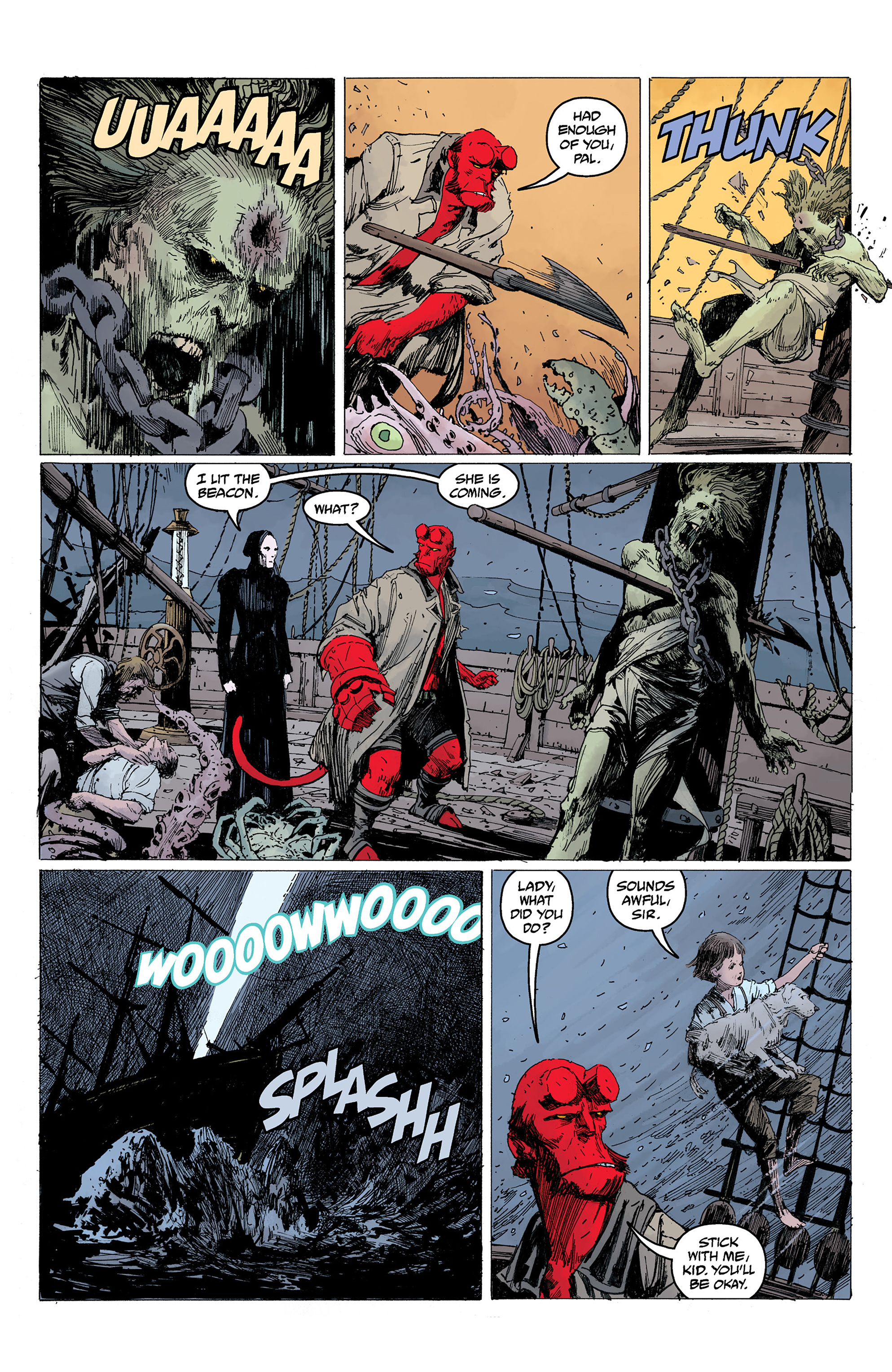 Read online Hellboy: Into the Silent Sea comic -  Issue # Full - 49
