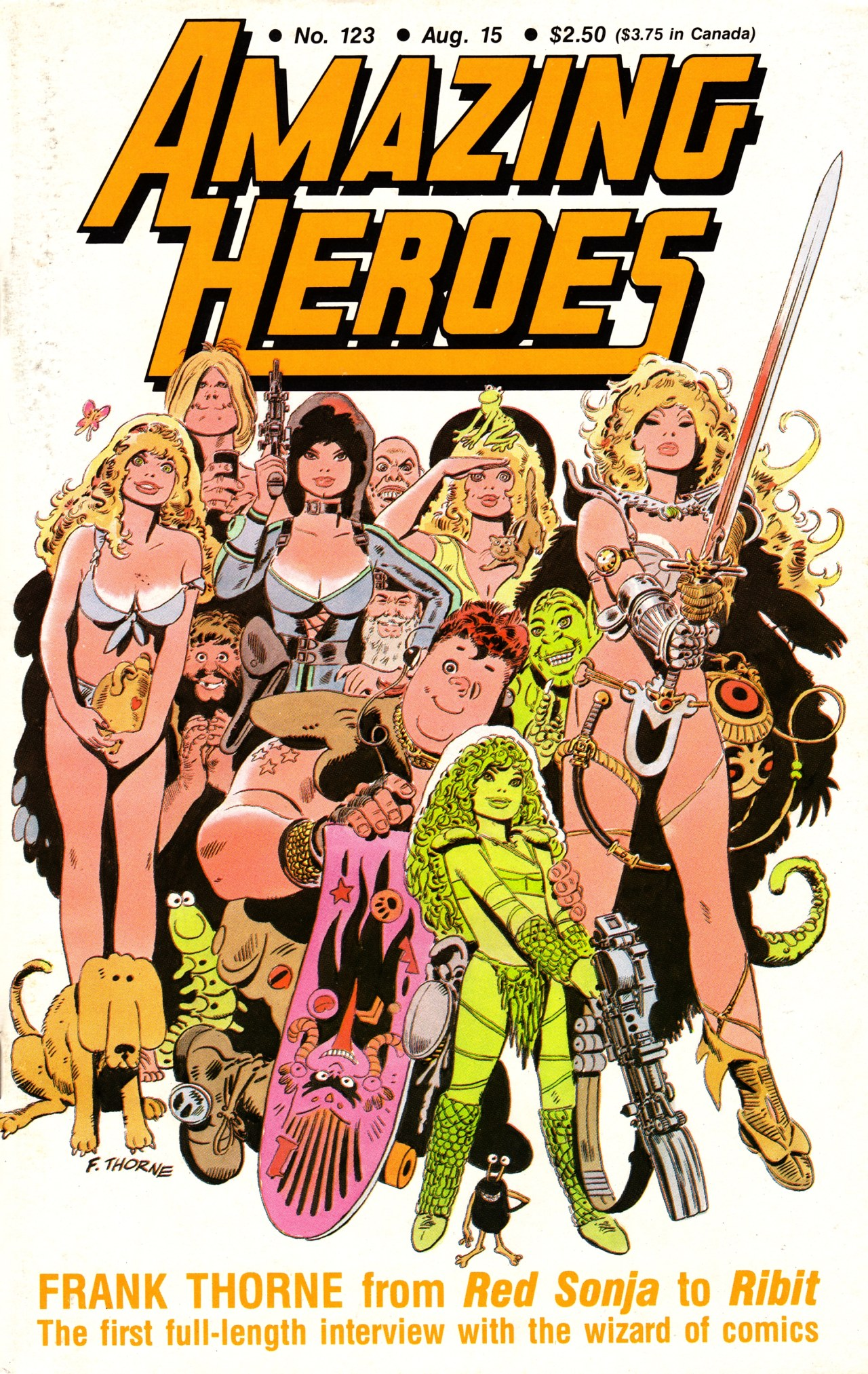 Read online Amazing Heroes comic -  Issue #123 - 1