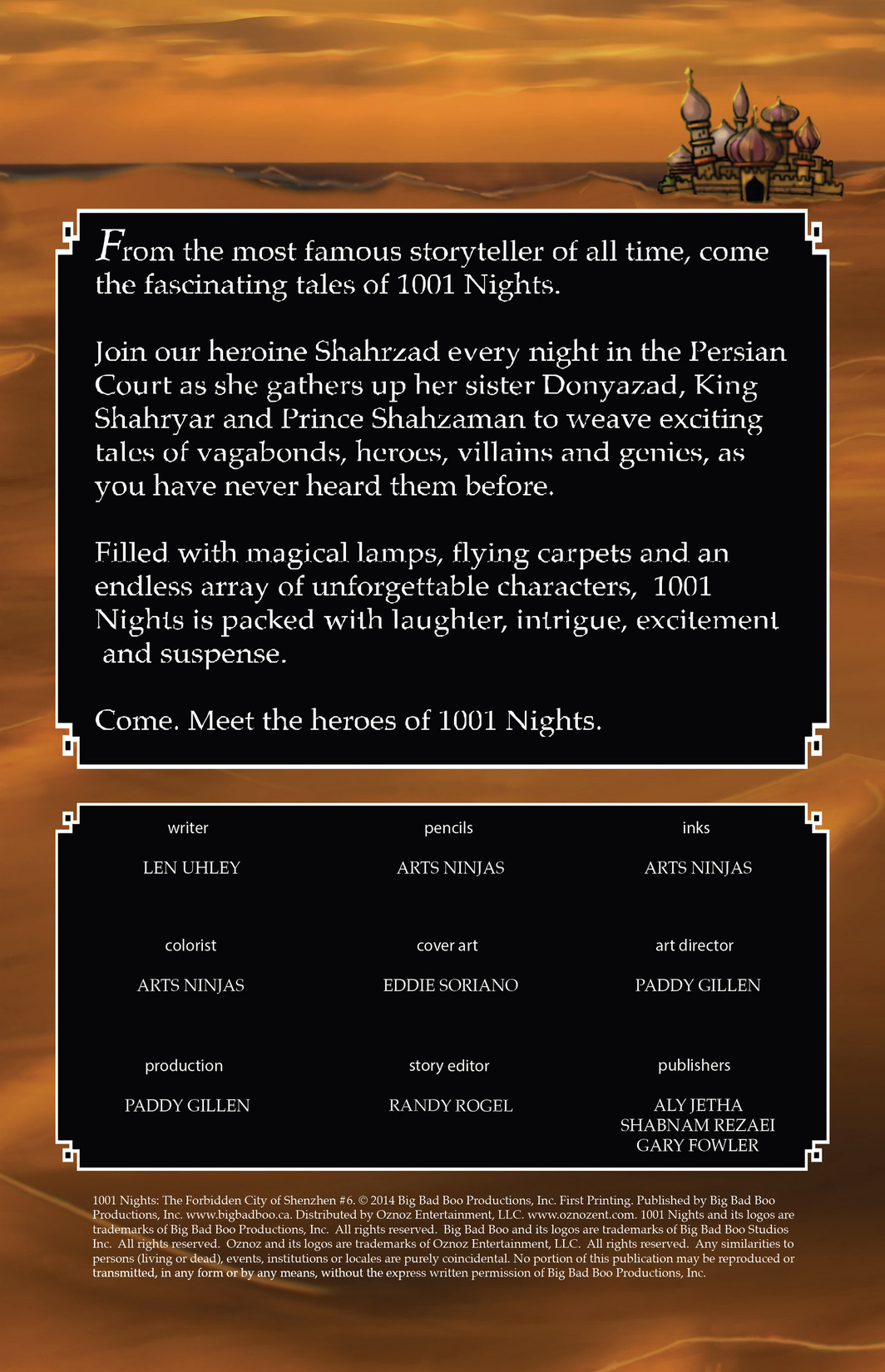 Read online 1001 Nights comic -  Issue #6 - 2