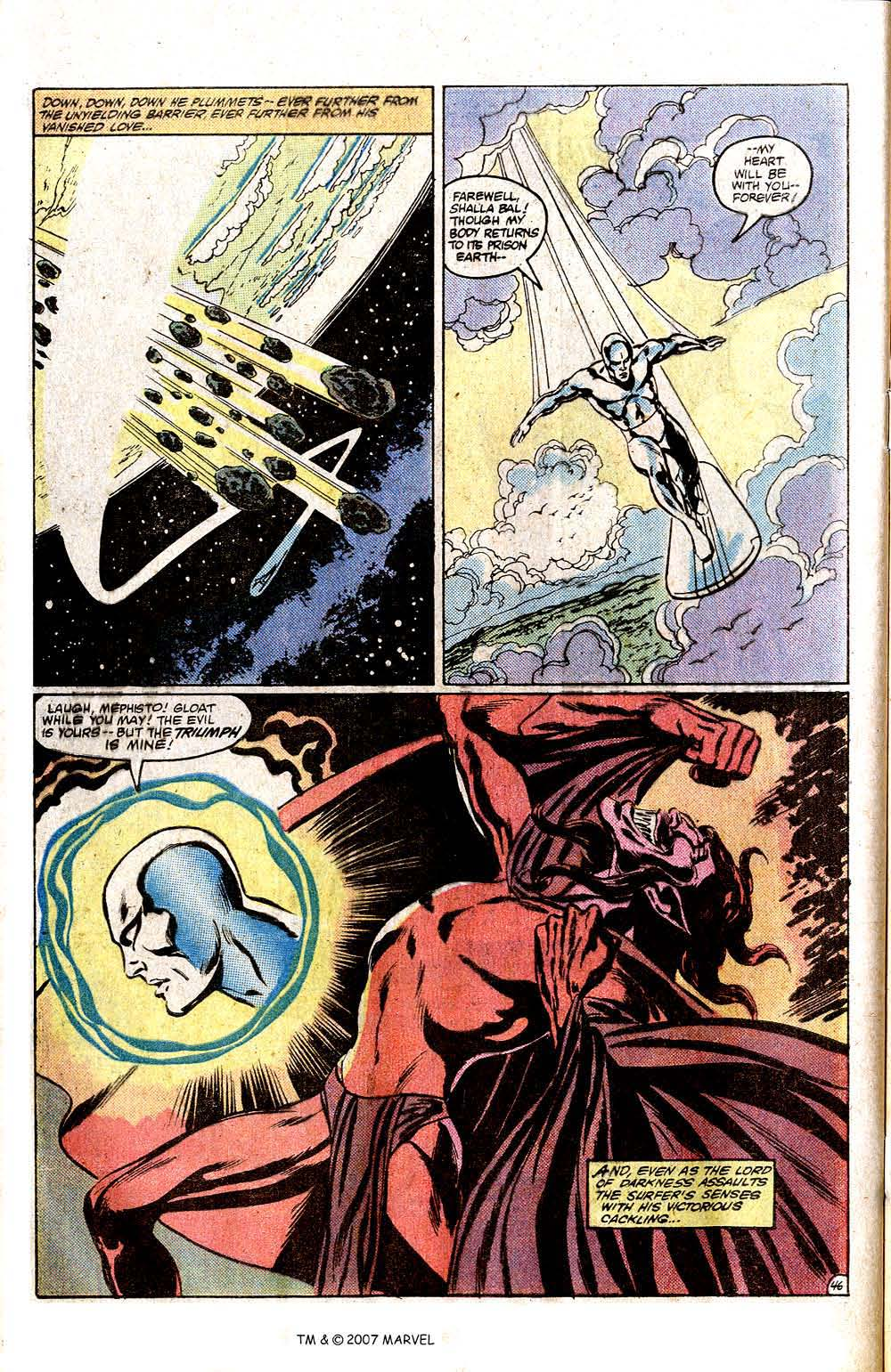 Read online Silver Surfer (1982) comic -  Issue # Full - 48