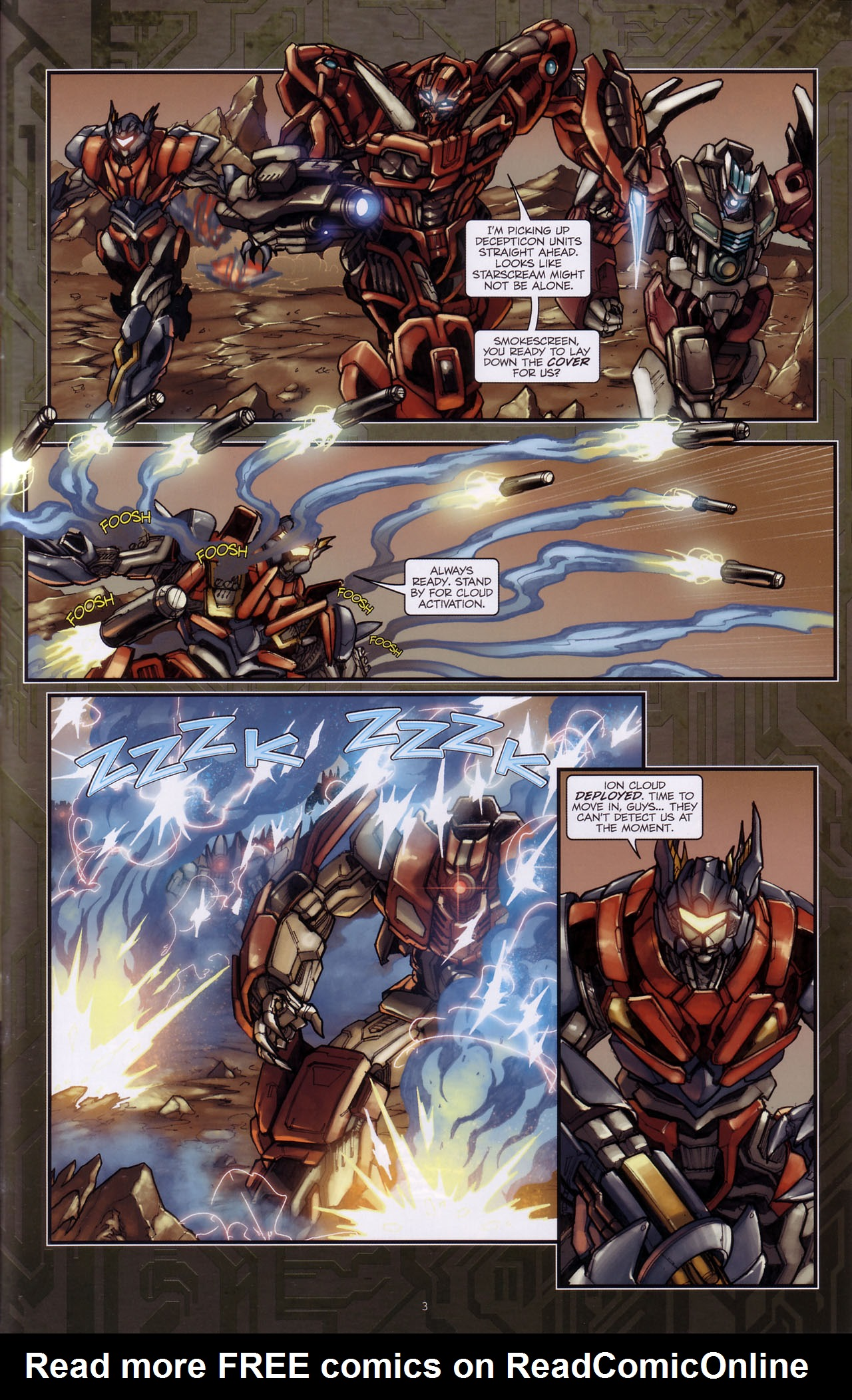 Read online Transformers: The Reign of Starscream comic -  Issue #3 - 5