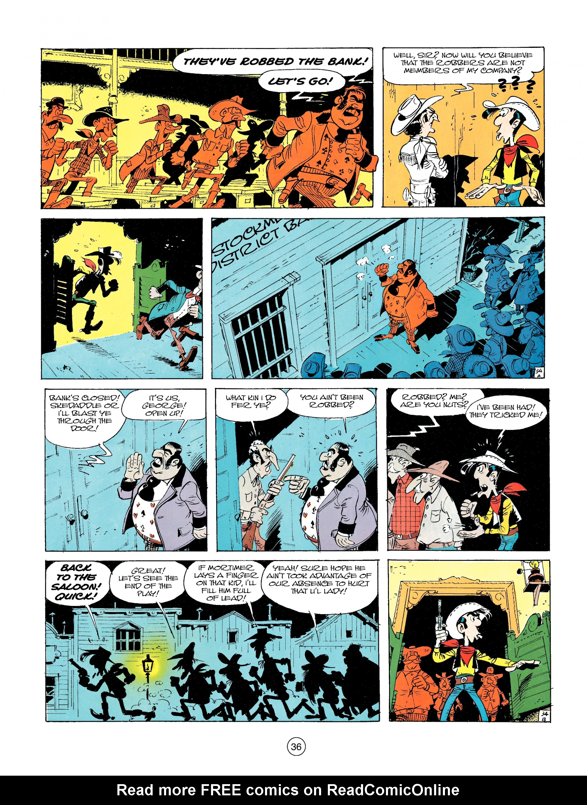 Read online A Lucky Luke Adventure comic -  Issue #14 - 36