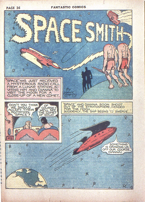 Read online Fantastic Comics comic -  Issue #4 - 37