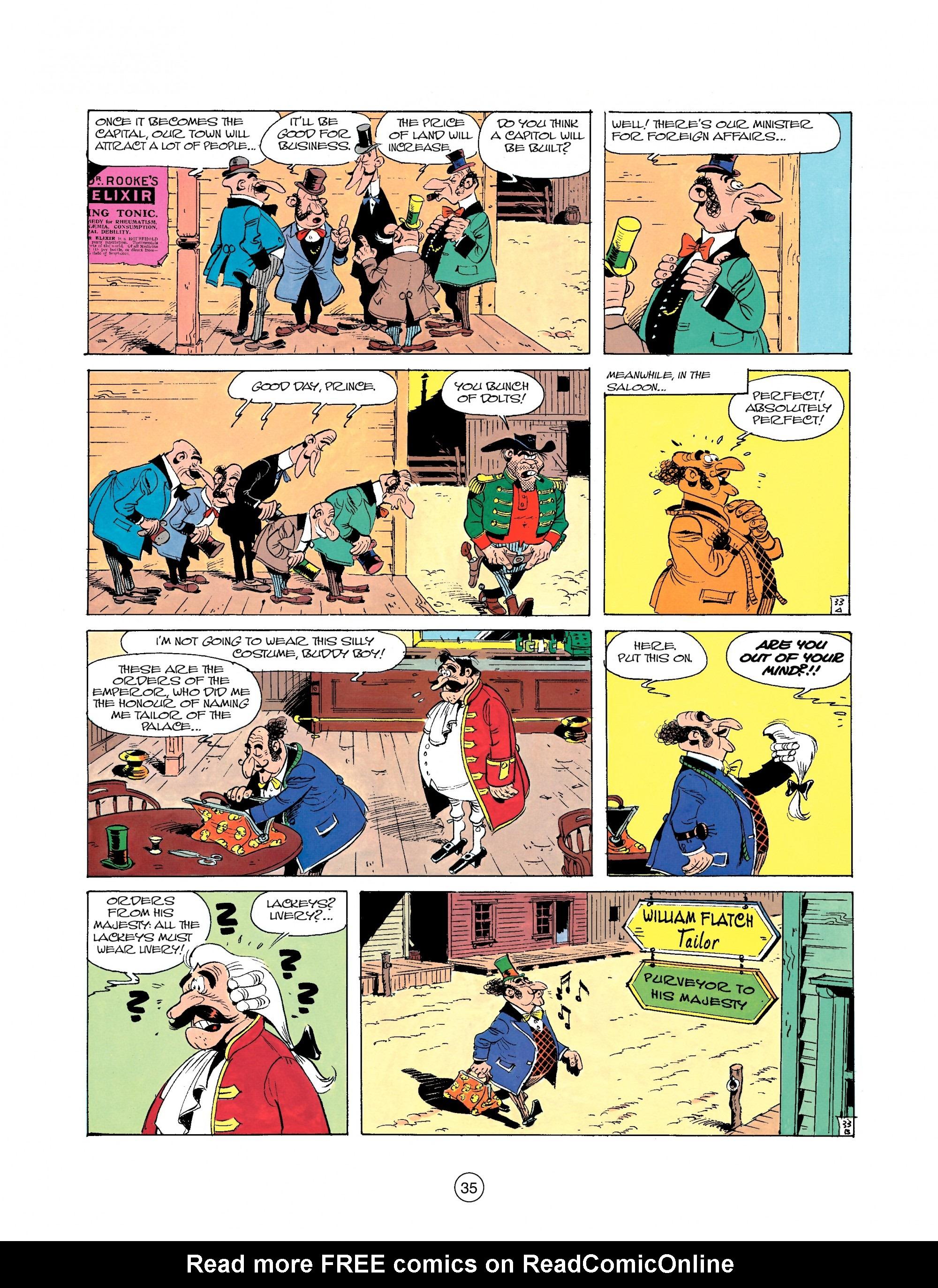 Read online A Lucky Luke Adventure comic -  Issue #22 - 35