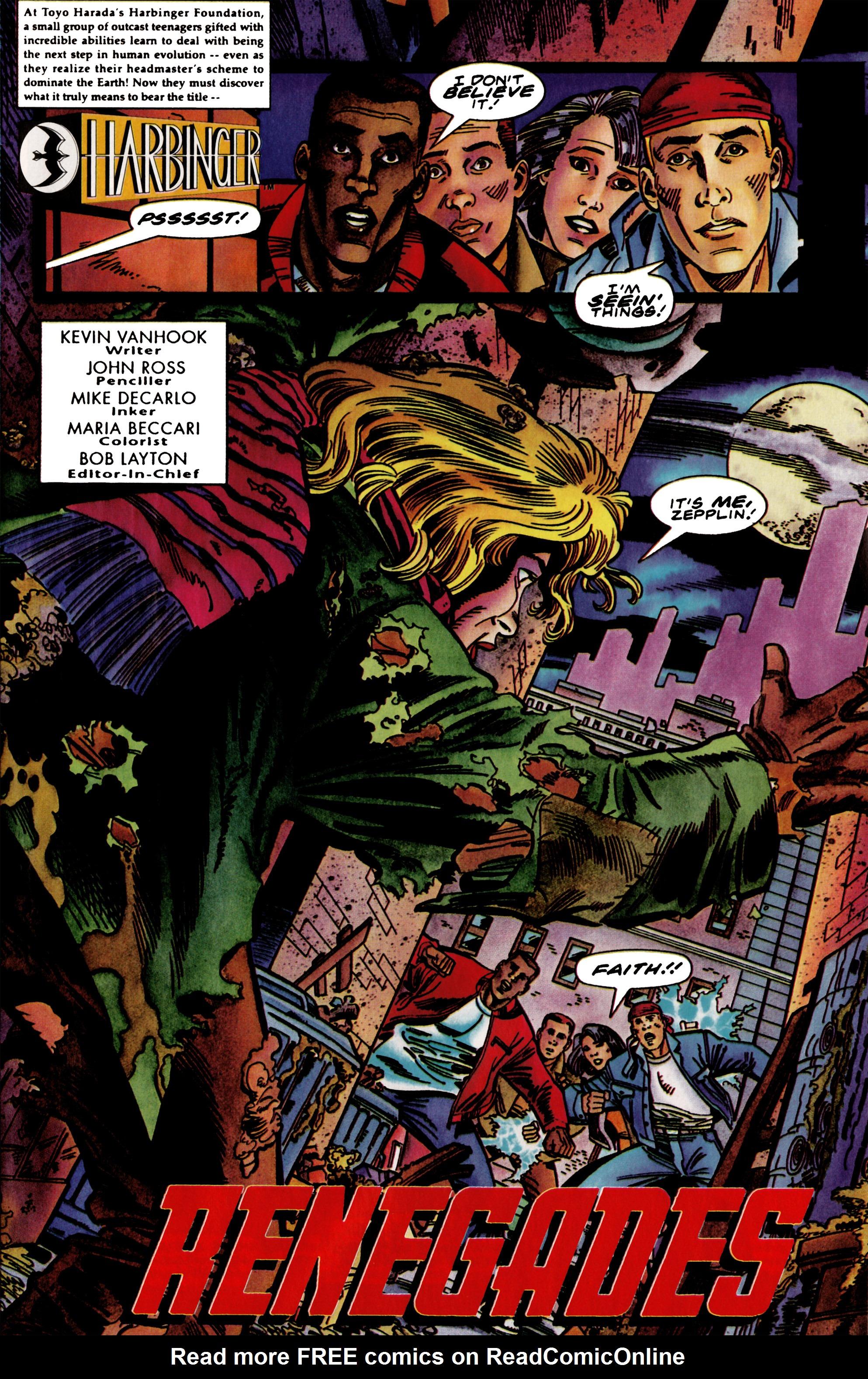 Read online Harbinger (1992) comic -  Issue #39 - 2