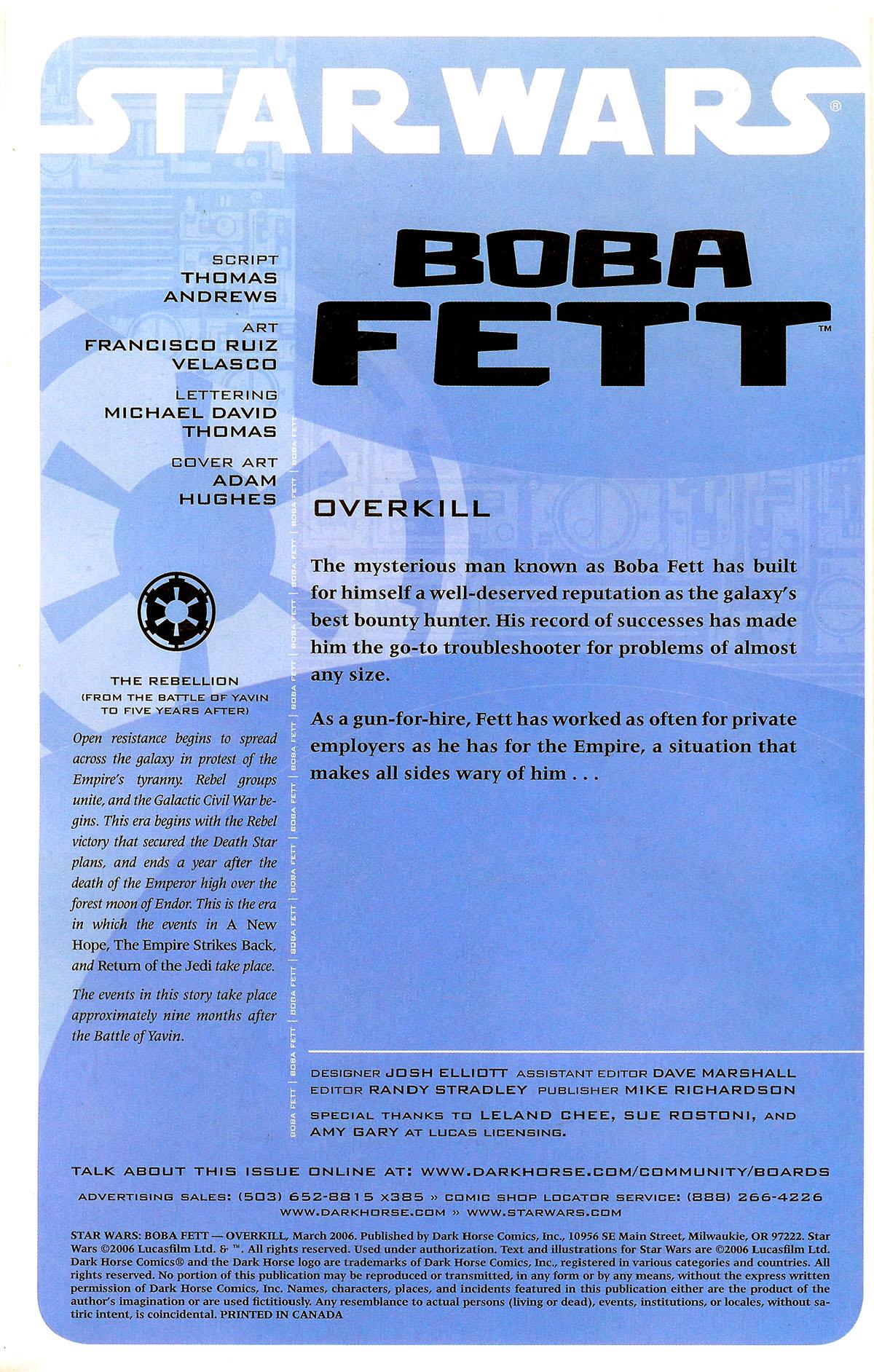 Star Wars: Boba Fett - Overkill Full Page 2