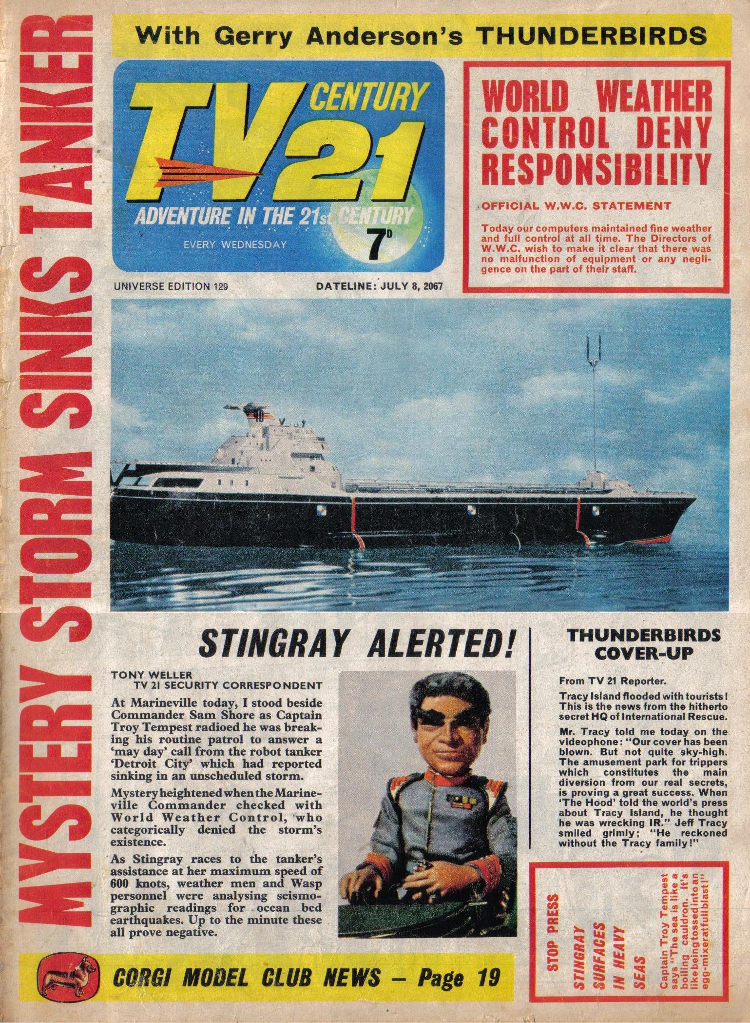 Read online TV Century 21 (TV 21) comic -  Issue #129 - 1