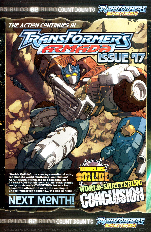 Read online Transformers Armada comic -  Issue #16 - 25