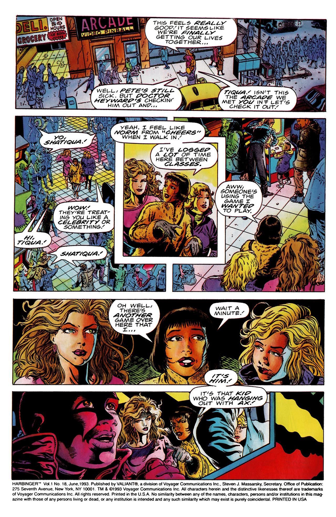 Read online Harbinger (1992) comic -  Issue #18 - 3