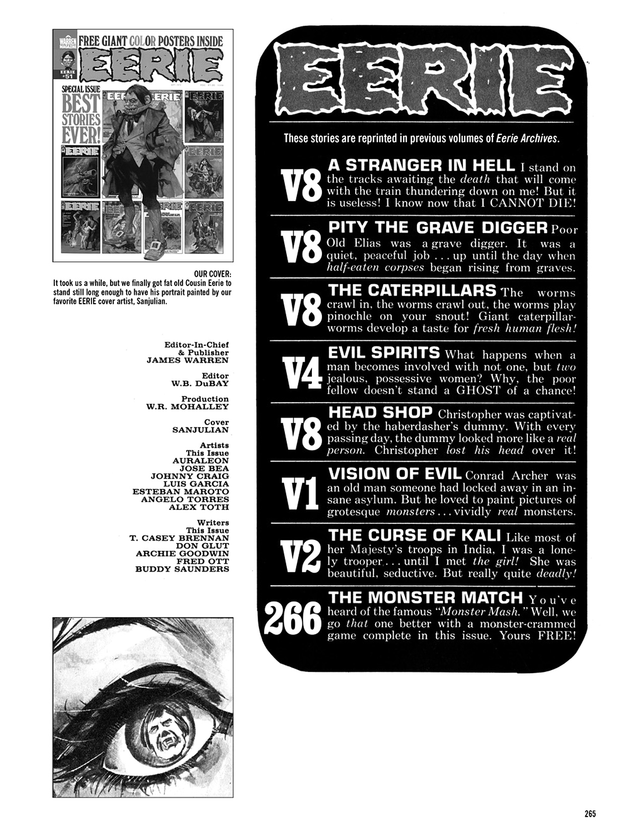 Read online Eerie Archives comic -  Issue # TPB 10 - 265