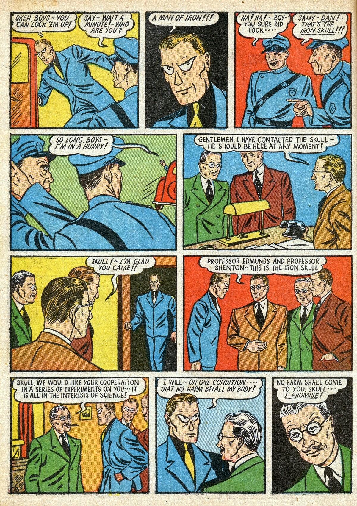 Read online Amazing Man Comics comic -  Issue #16 - 18