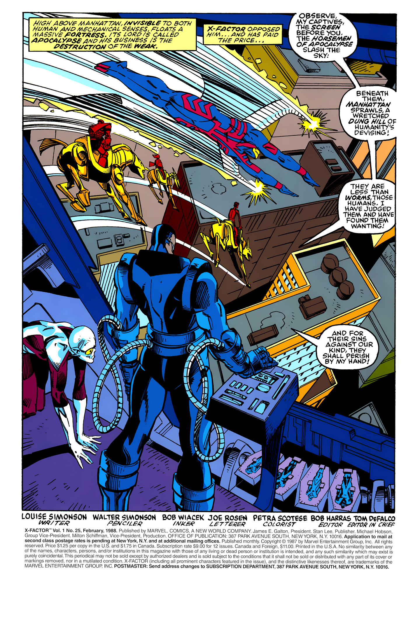 Read online X-Factor (1986) comic -  Issue #25 - 2