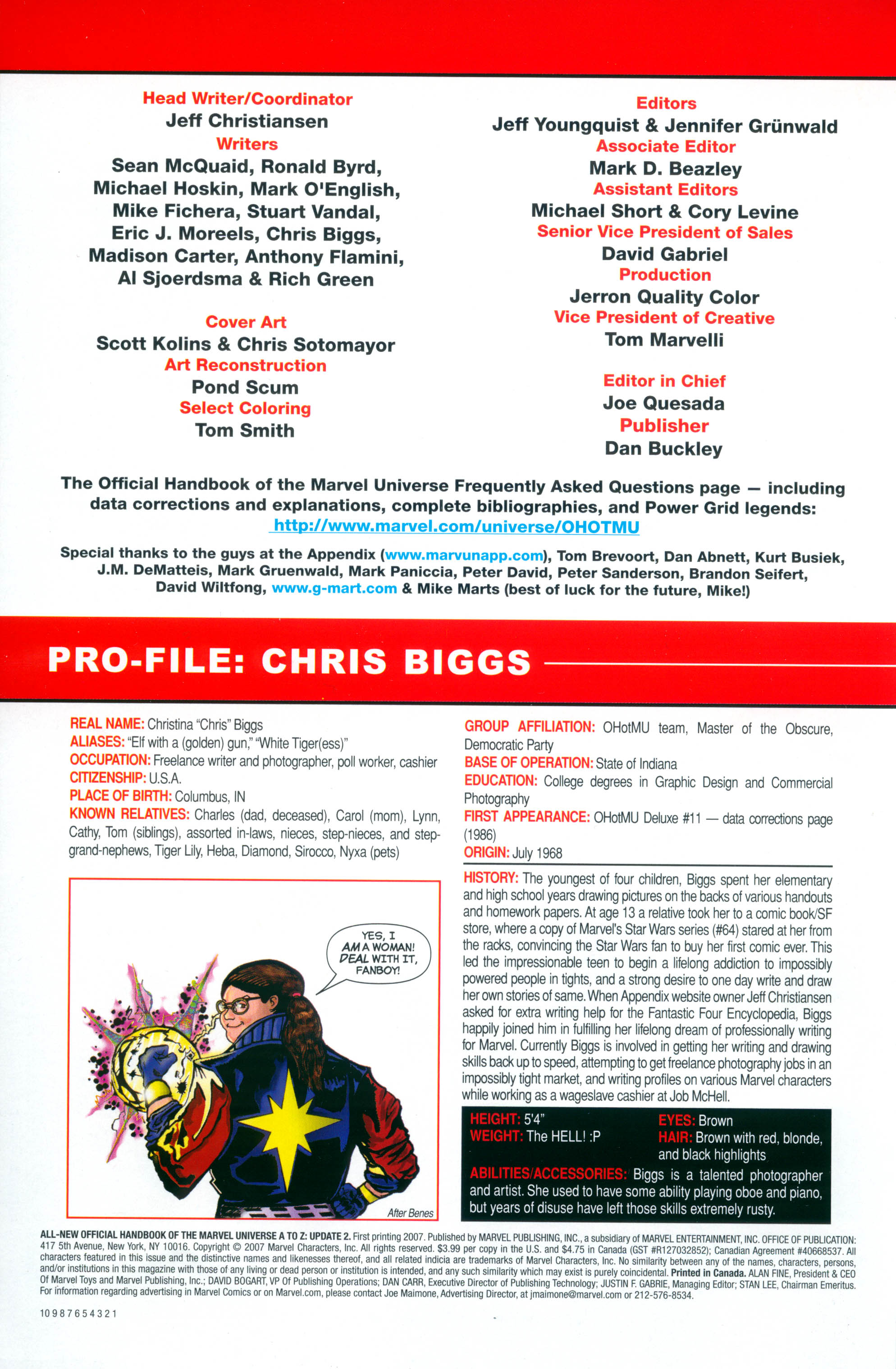 Read online All-New Official Handbook of the Marvel Universe A to Z: Update comic -  Issue #2 - 2