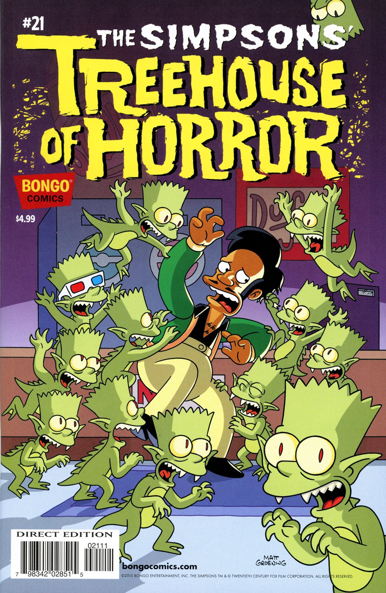 Read online Treehouse of Horror comic -  Issue #21 - 1