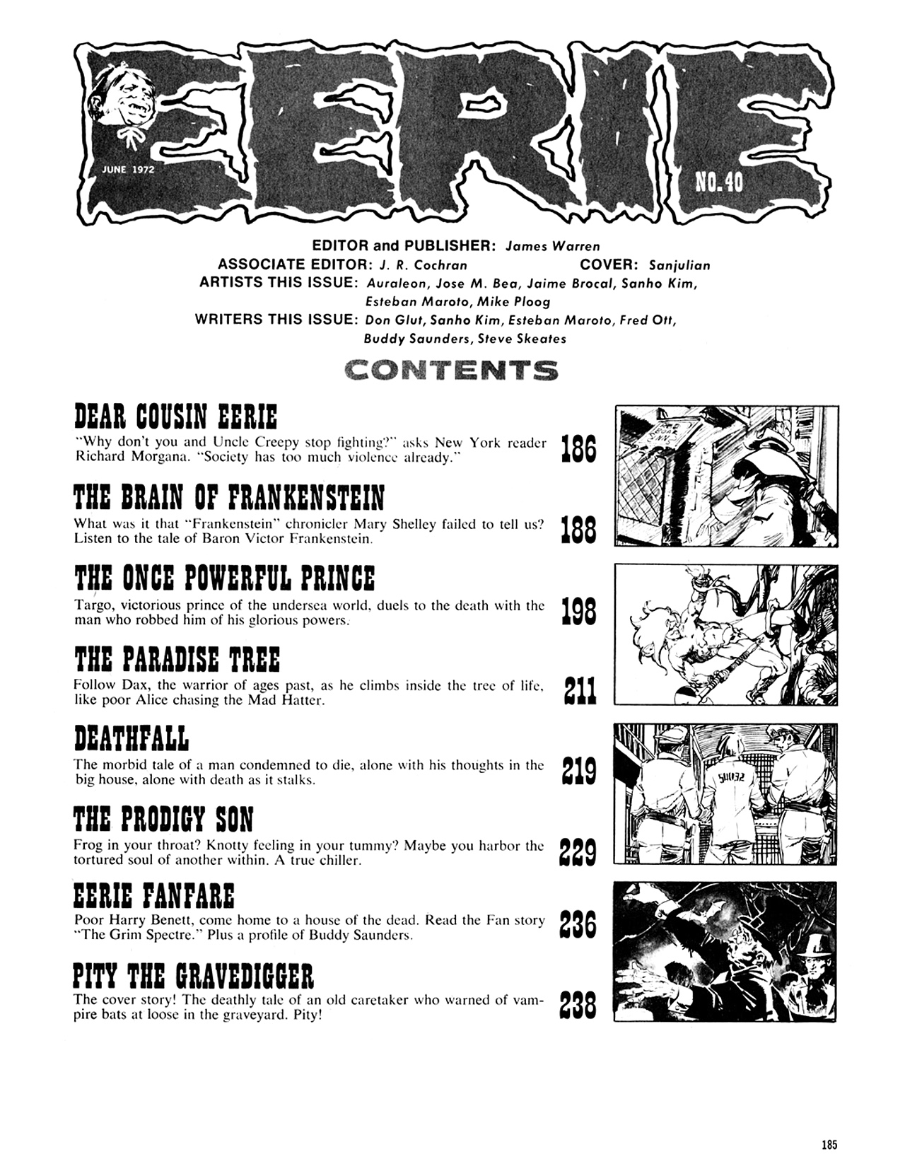 Read online Eerie Archives comic -  Issue # TPB 8 - 186