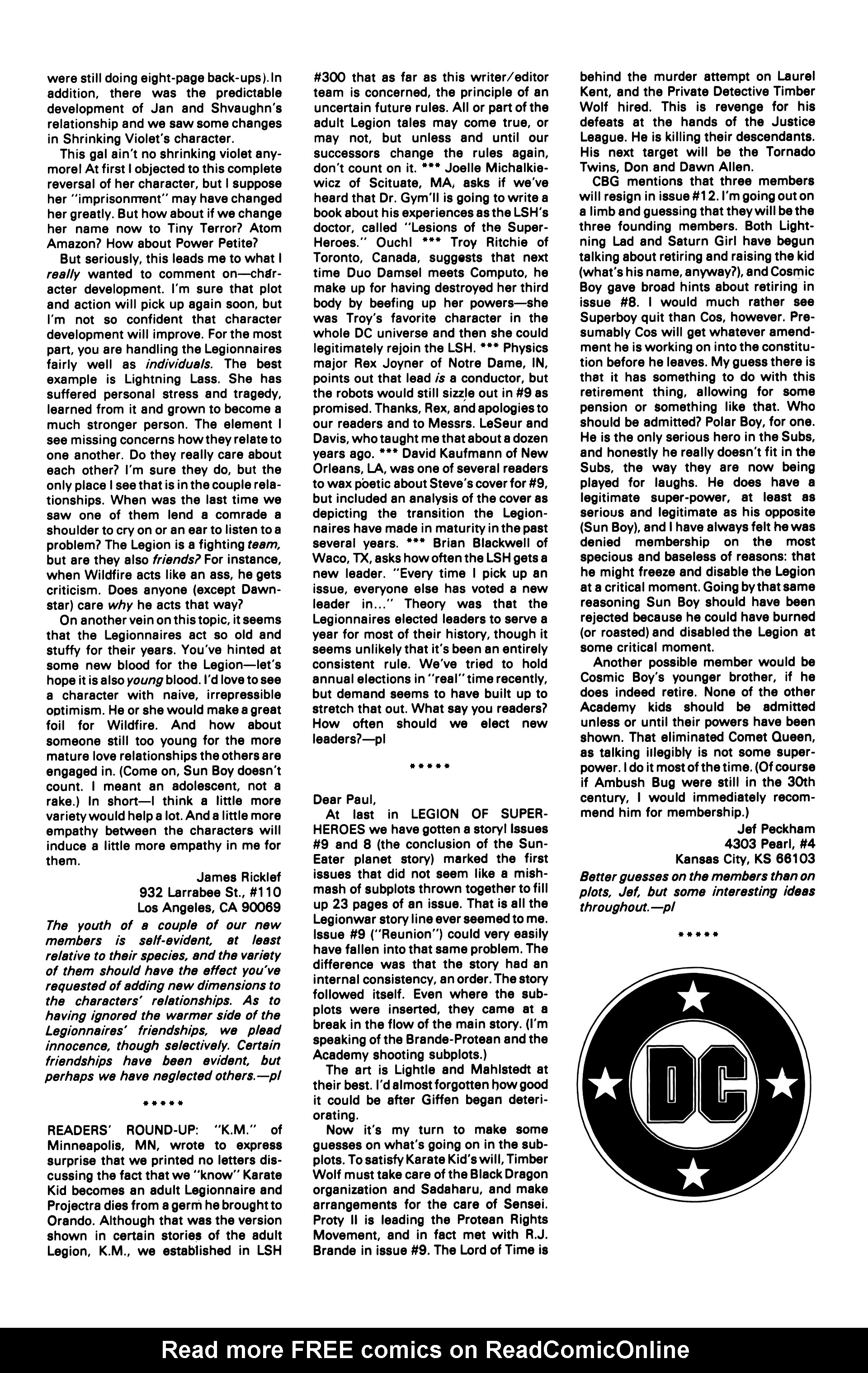 Legion of Super-Heroes (1984) 14 Page 25