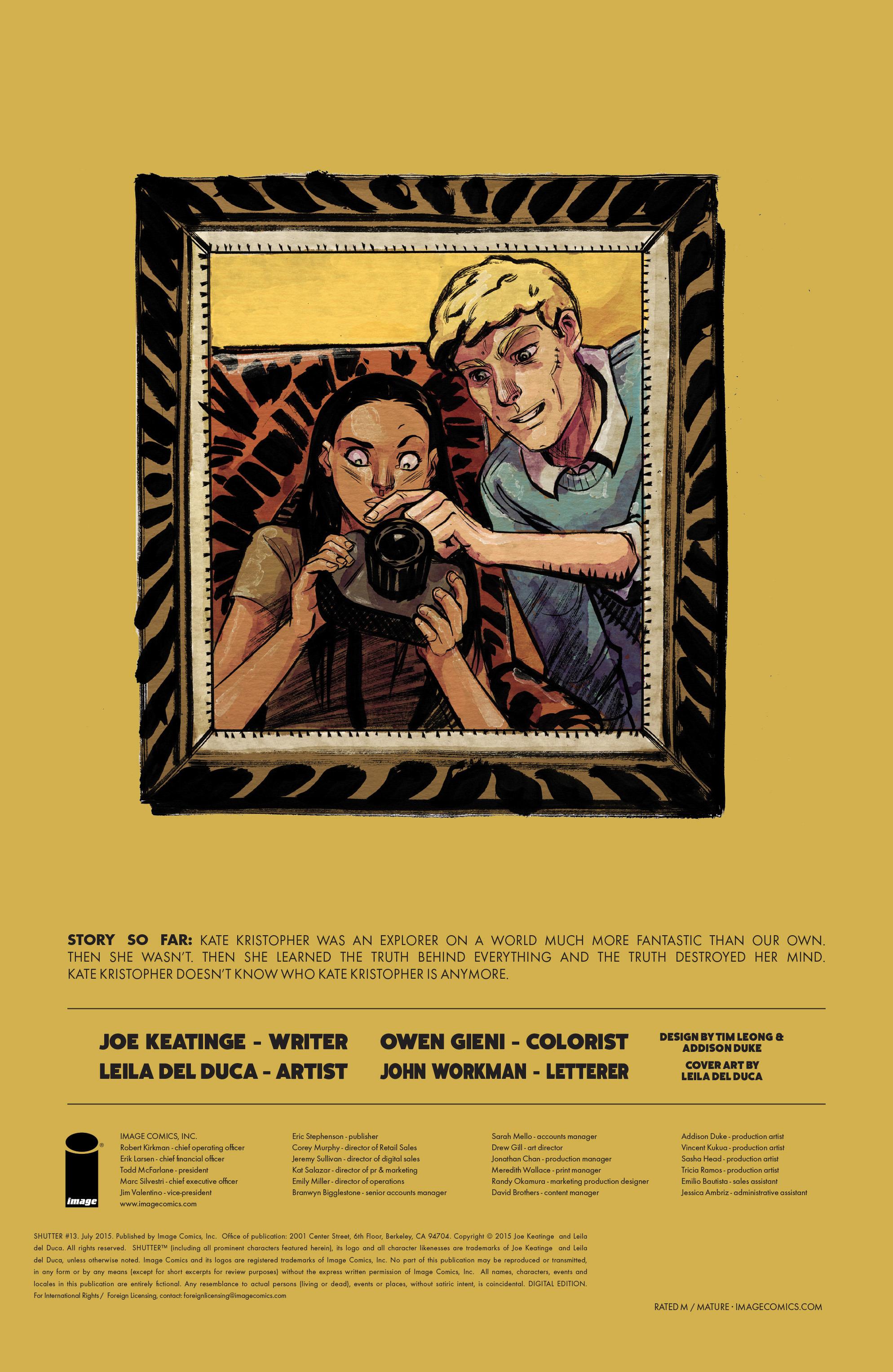 Read online Shutter comic -  Issue #13 - 29