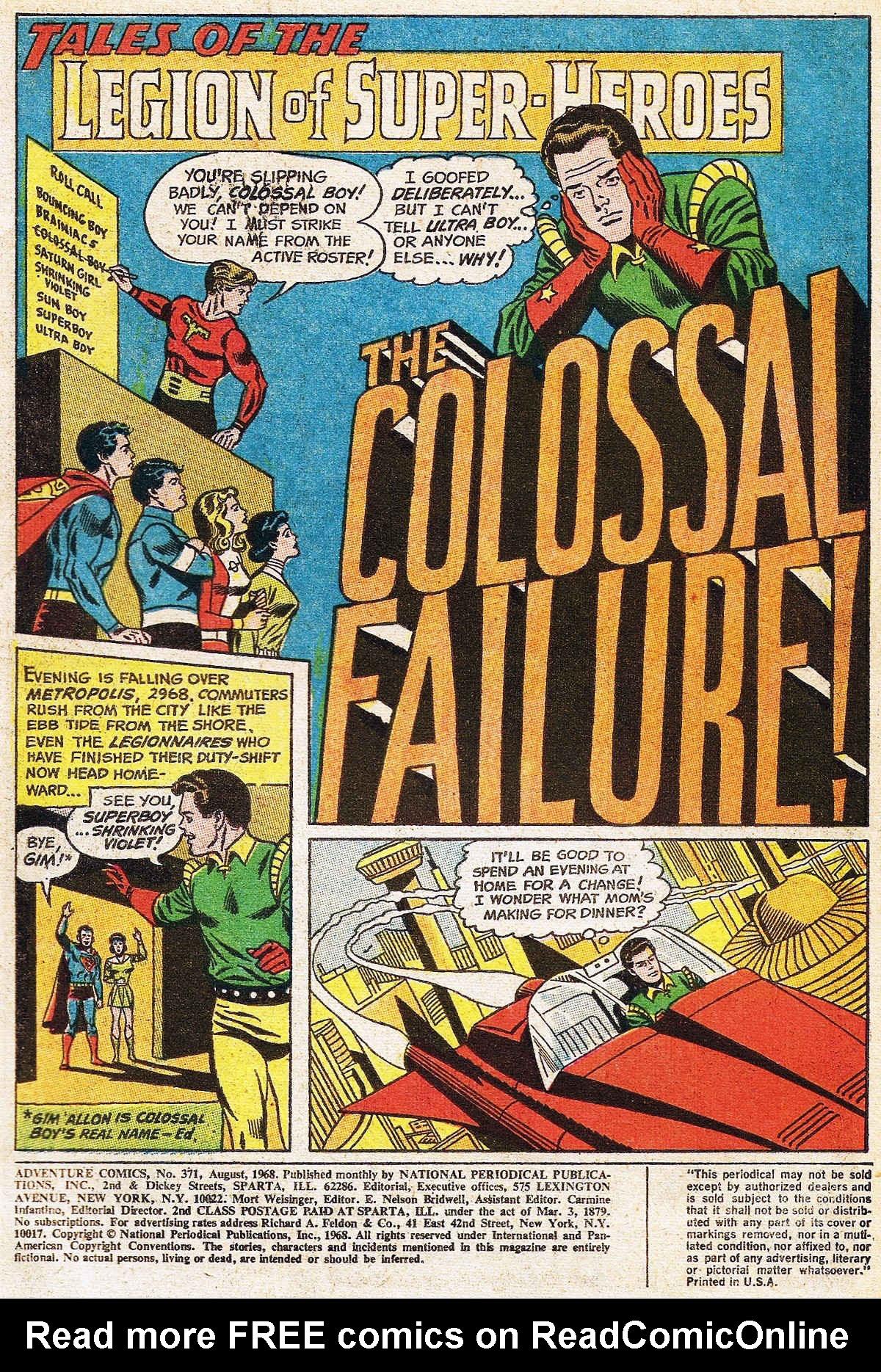 Read online Adventure Comics (1938) comic -  Issue #371 - 3