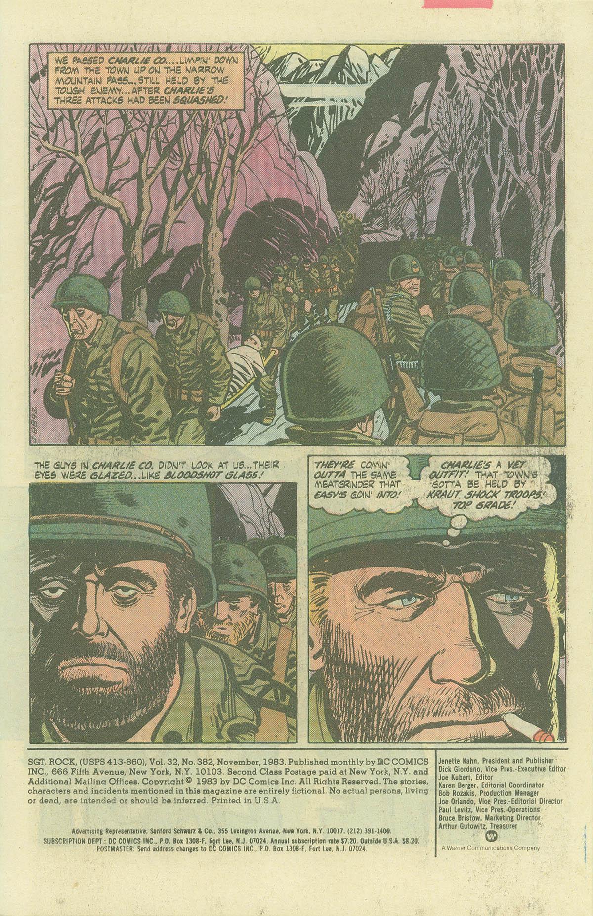 Read online Sgt. Rock comic -  Issue #382 - 3