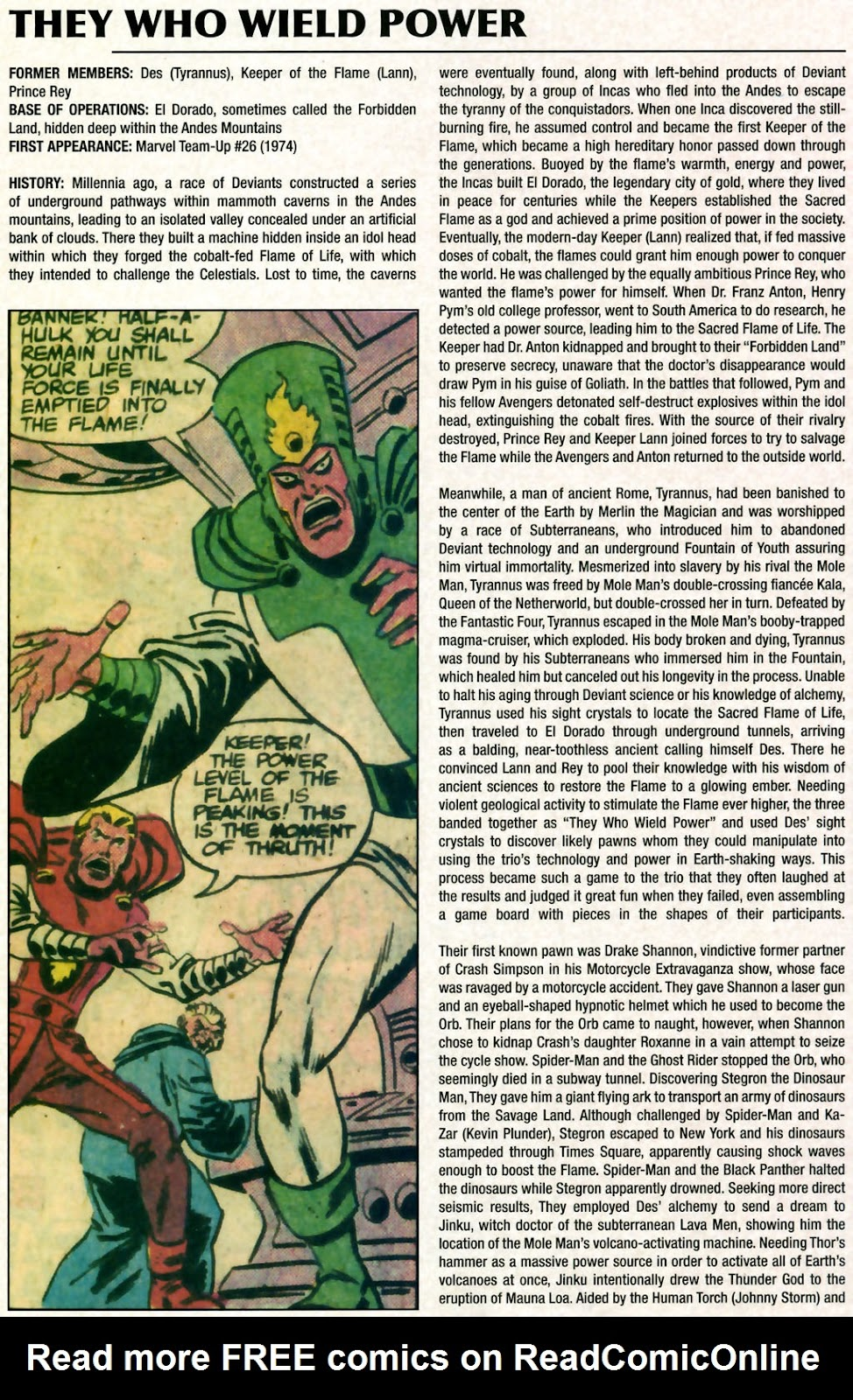 Read online Marvel Legacy: The 1970's Handbook comic -  Issue # Full - 58
